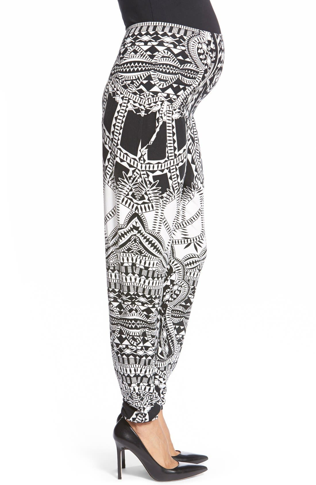 'Liviana' Tapered Maternity Pants,                             Alternate thumbnail 3, color,                             Tribal Placement
