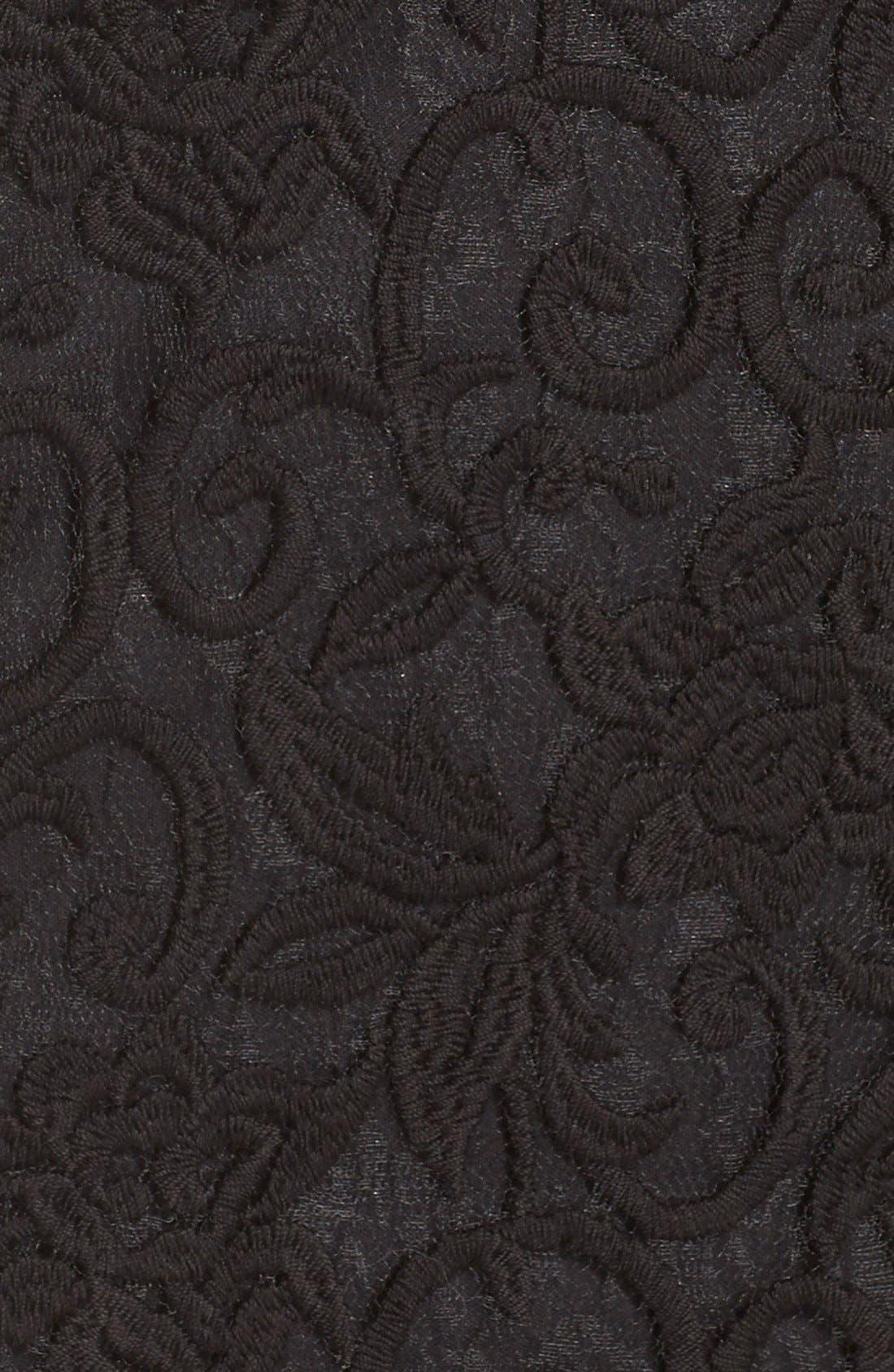 Alternate Image 6  - Adrianna Papell Illusion Lace Sheath Dress