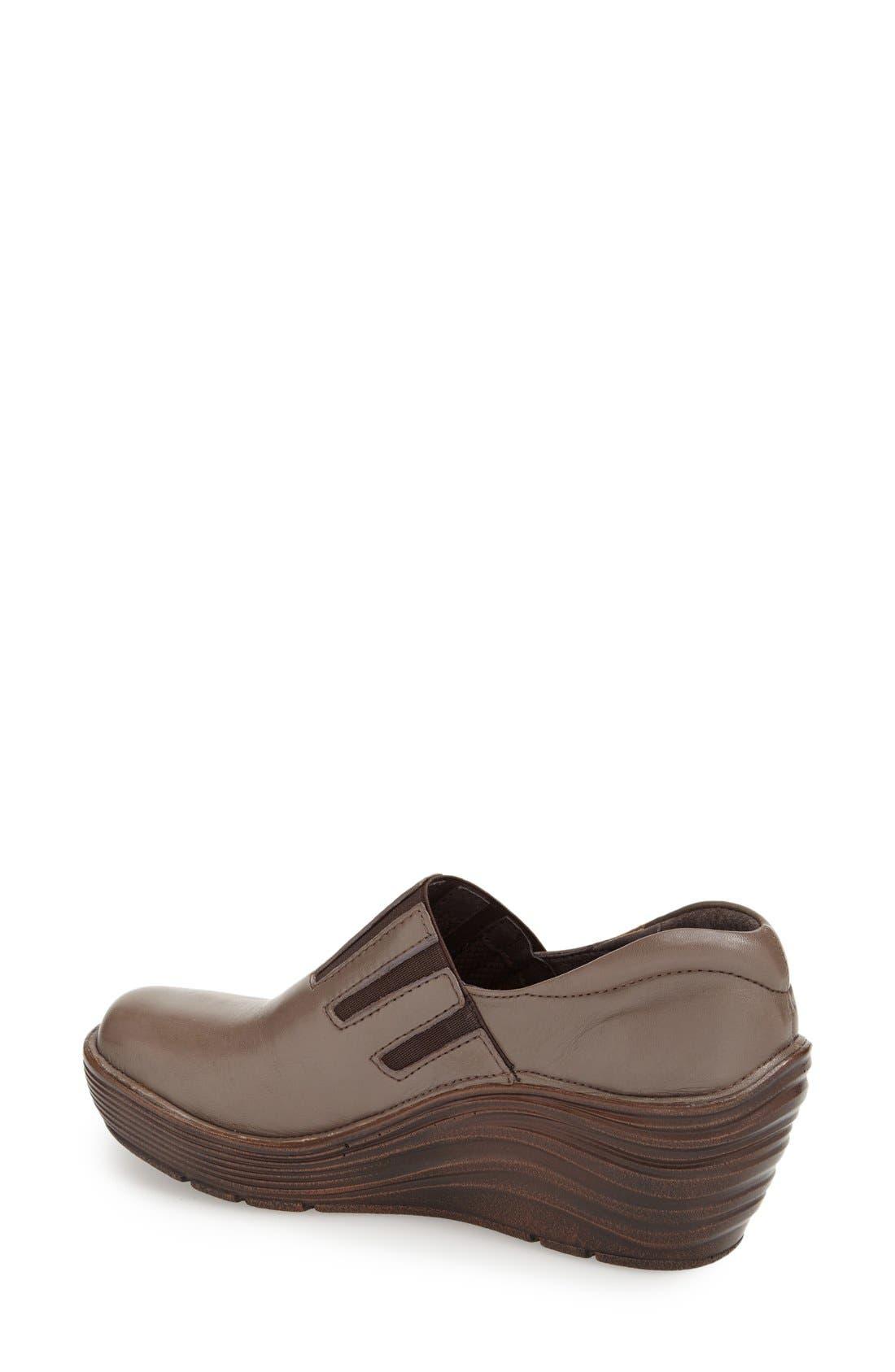 'Coast' Clog,                             Alternate thumbnail 2, color,                             Taupe Grey Leather