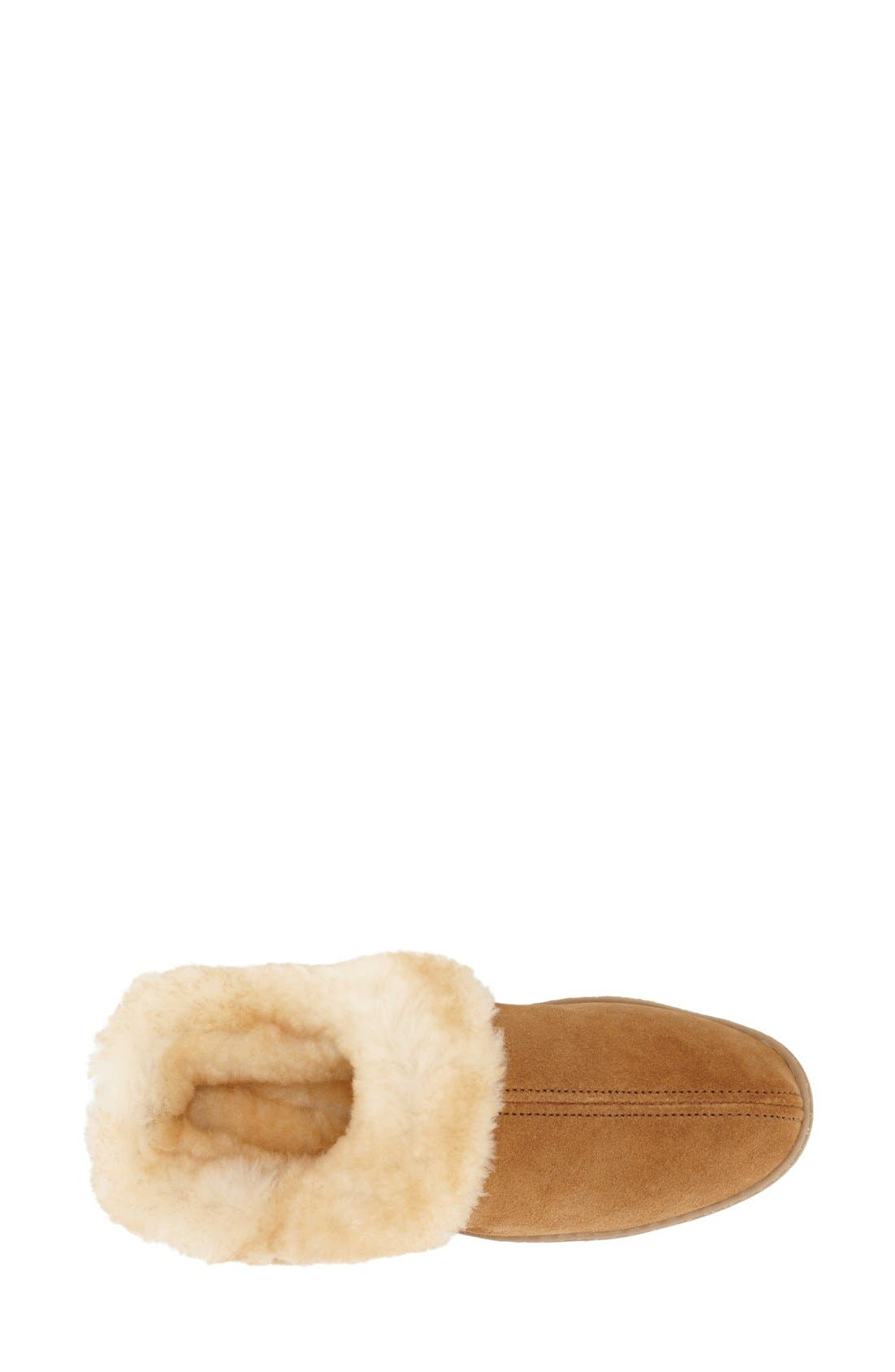 Sheepskin Mule Slipper,                             Alternate thumbnail 3, color,                             Tan Suede