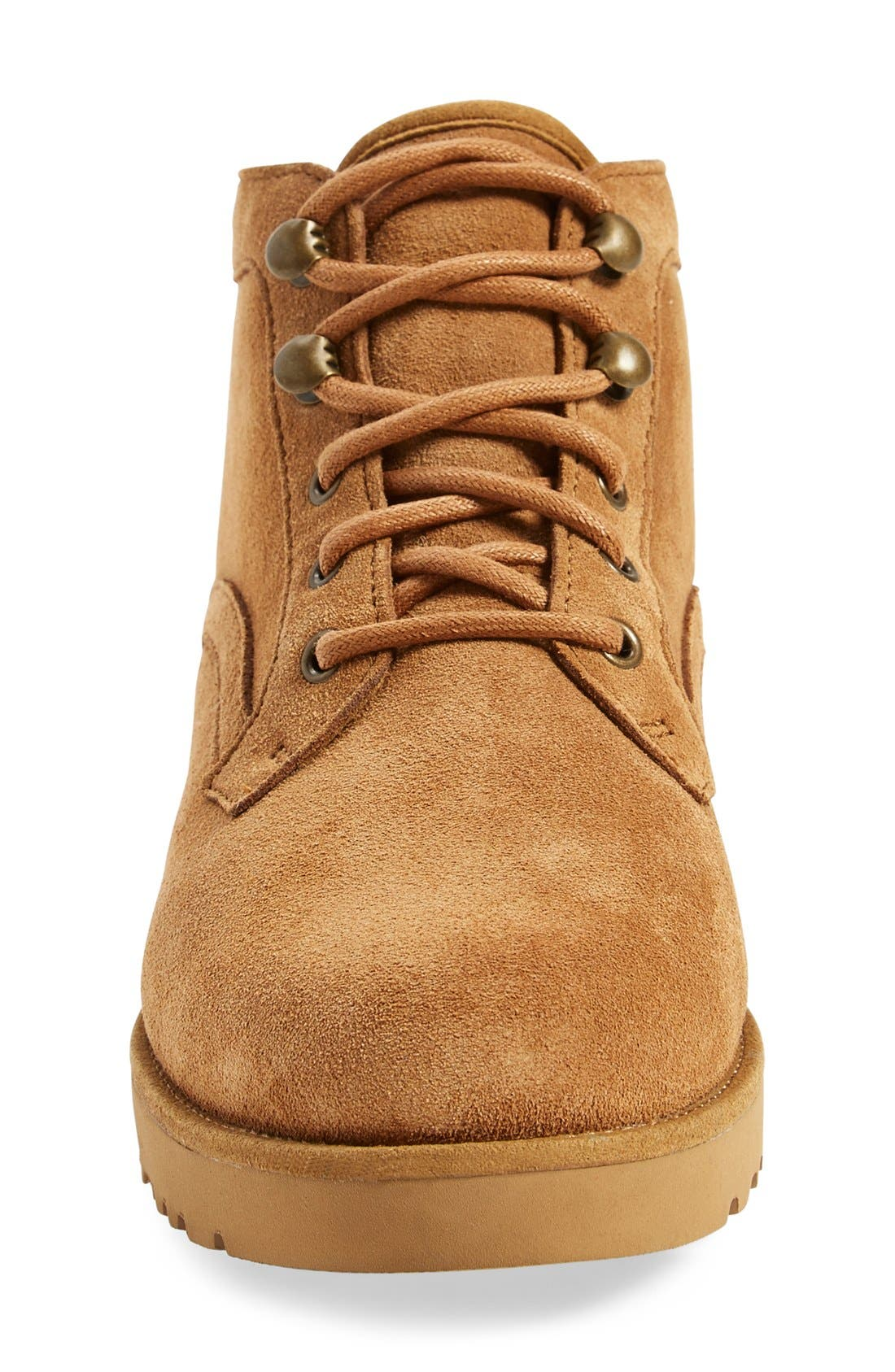 Bethany - Classic Slim<sup>™</sup> Water Resistant Chukka Boot,                             Alternate thumbnail 3, color,                             Chestnut Suede