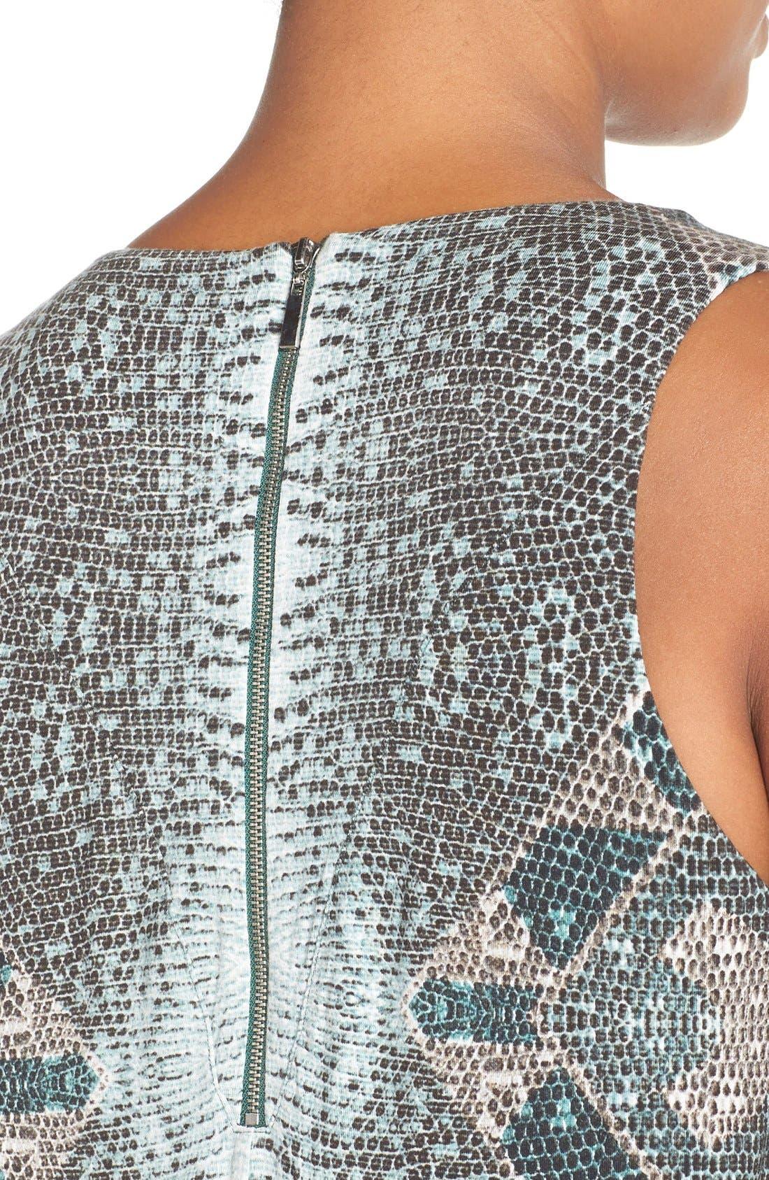 Alternate Image 4  - Tart 'Jewell' Pleat Neck Print Top (Plus Size)