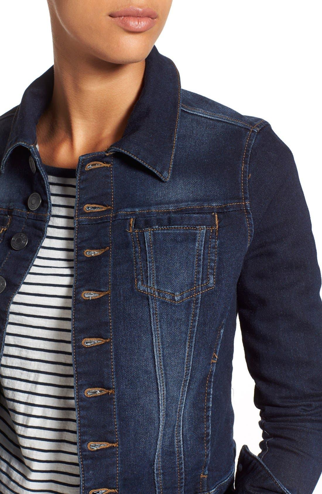 Alternate Image 4  - Jag Jeans 'Savannah' Knit Denim Jacket
