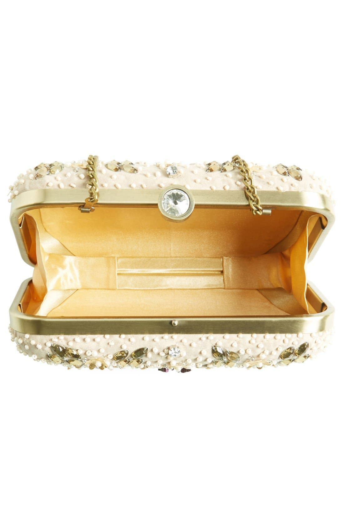 Alternate Image 4  - Natasha Couture Bead & Crystal Floral Clutch