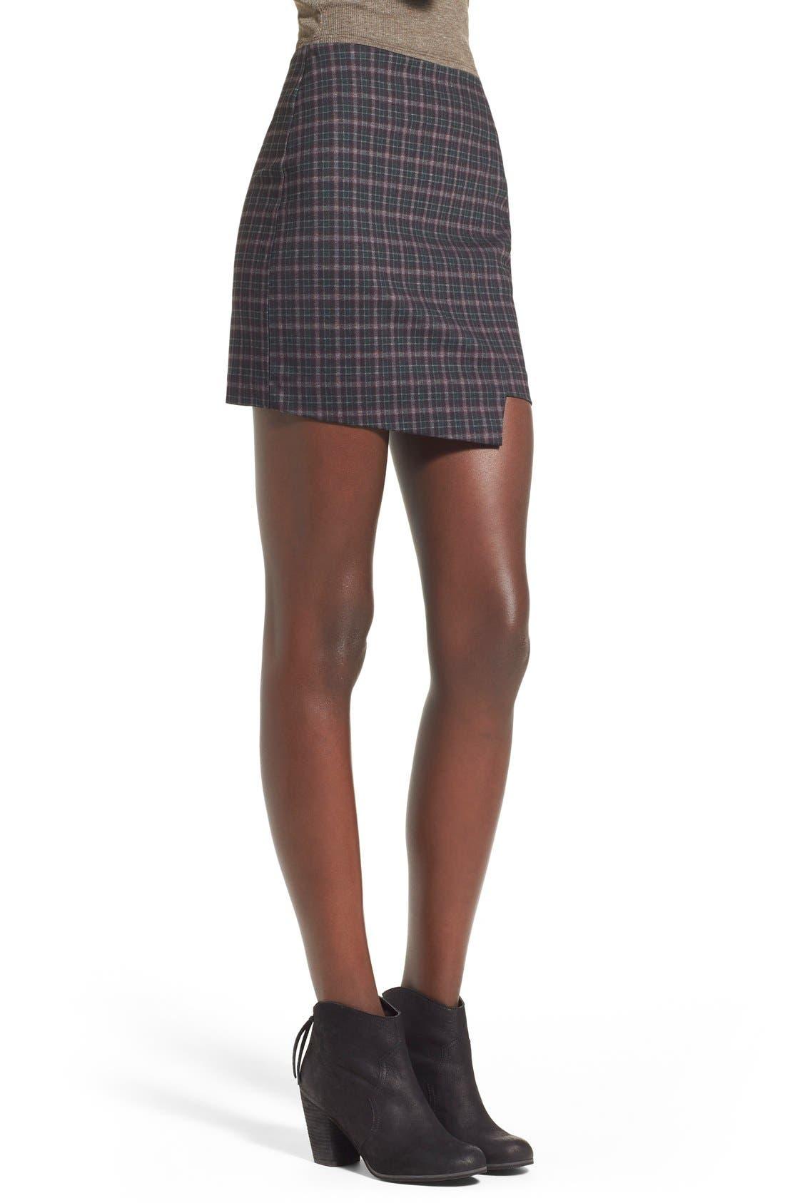 Alternate Image 3  - Fire Asymmetrical HemPlaid Skirt