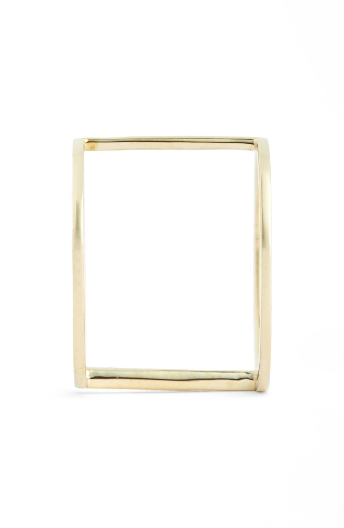 14k GoldBar Ring,                             Alternate thumbnail 2, color,                             Yellow Gold