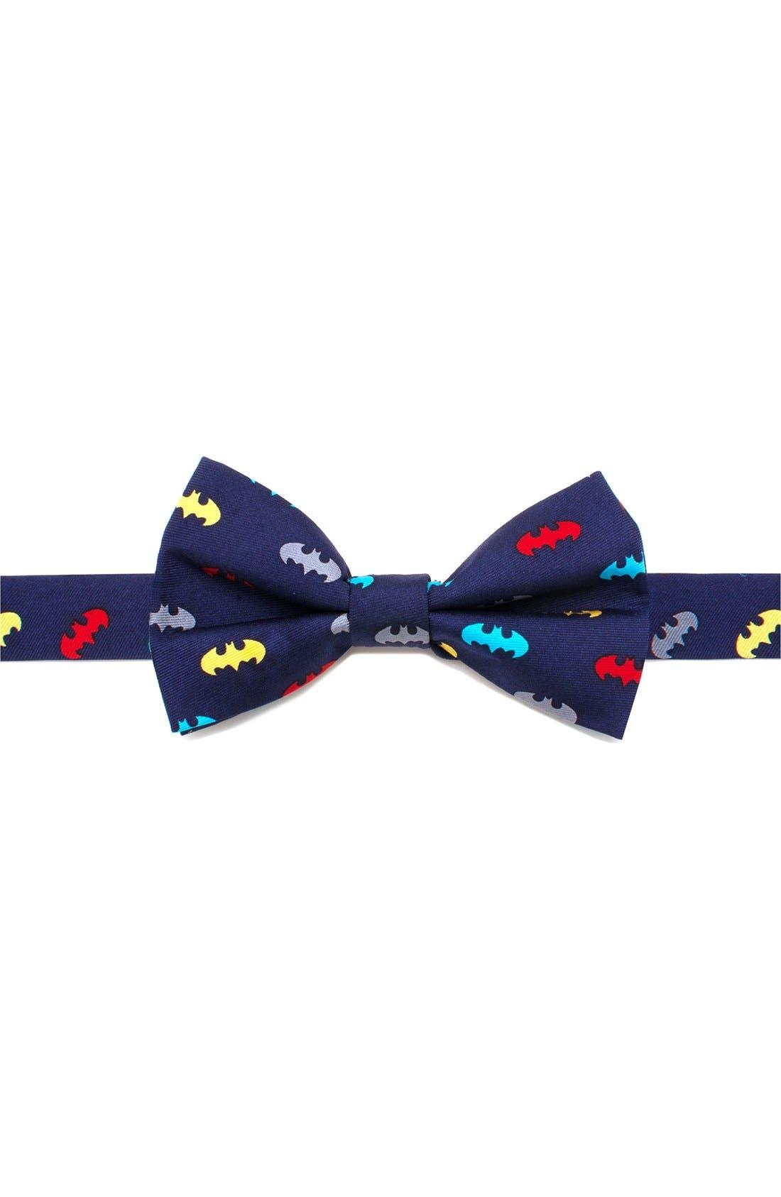 'Batman' Silk Bow Tie,                             Main thumbnail 1, color,                             Multi
