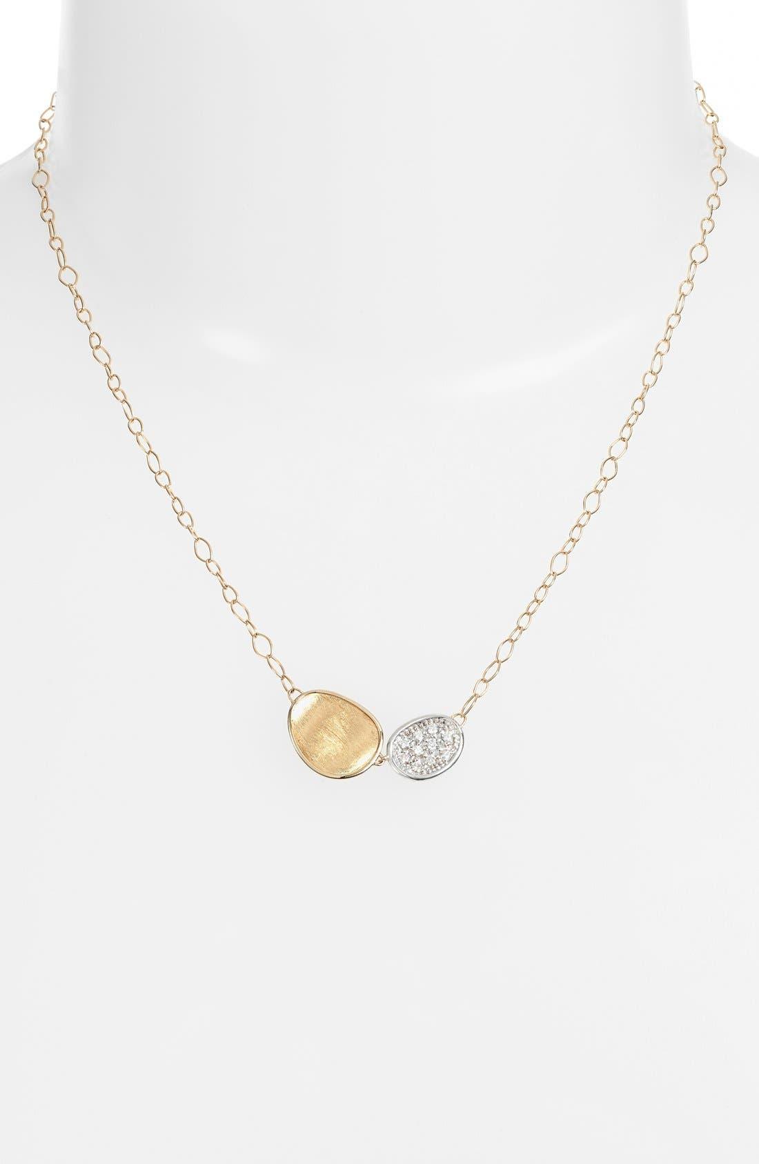 Lunaria Pendant Necklace,                             Alternate thumbnail 2, color,                             Yellow Gold