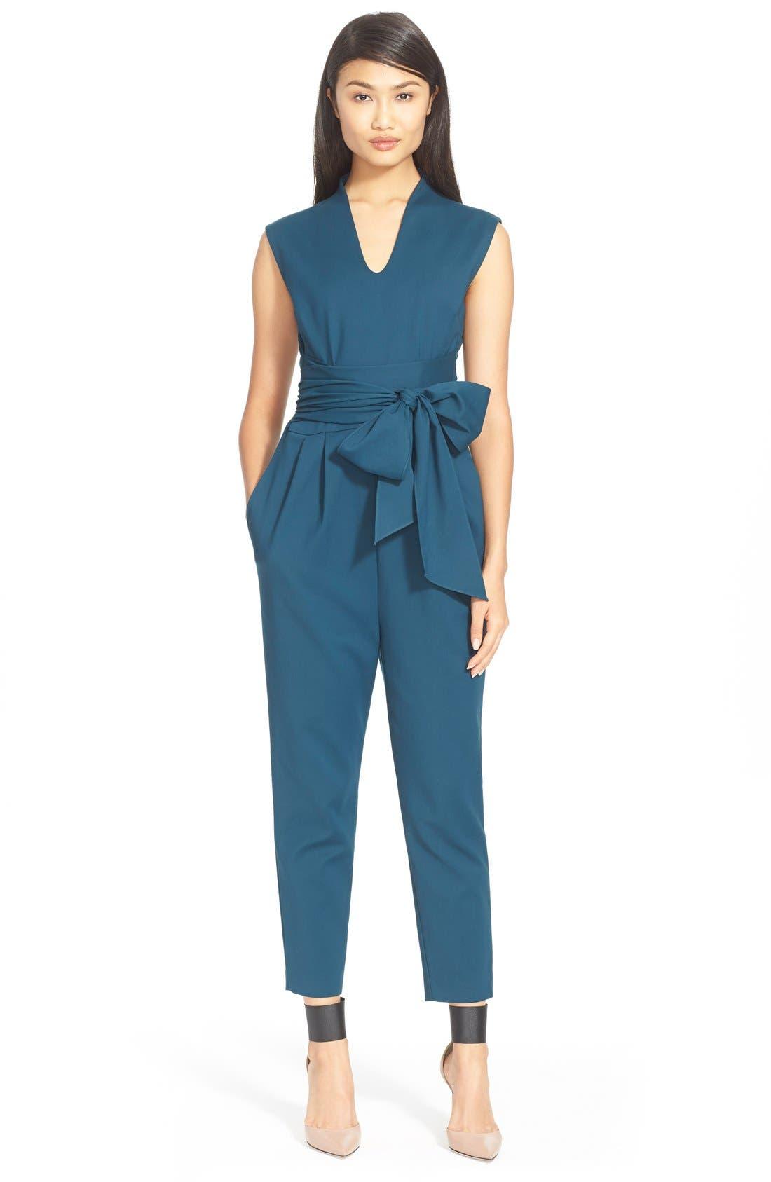Alternate Image 1 Selected - Tibi'Agathe' Wrap Waist Woven Jumpsuit