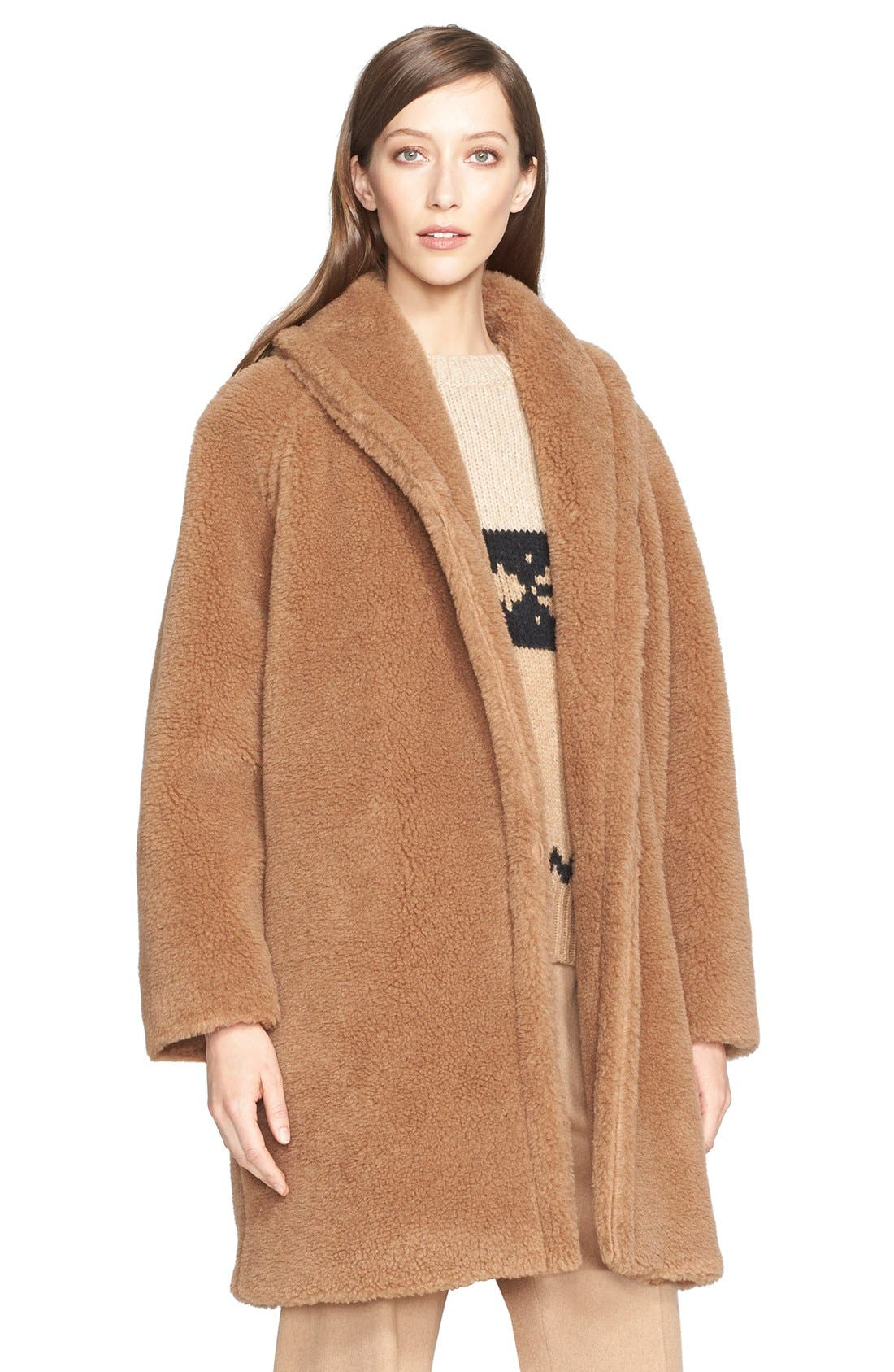 max mara teddy bear faux fur coat nordstrom