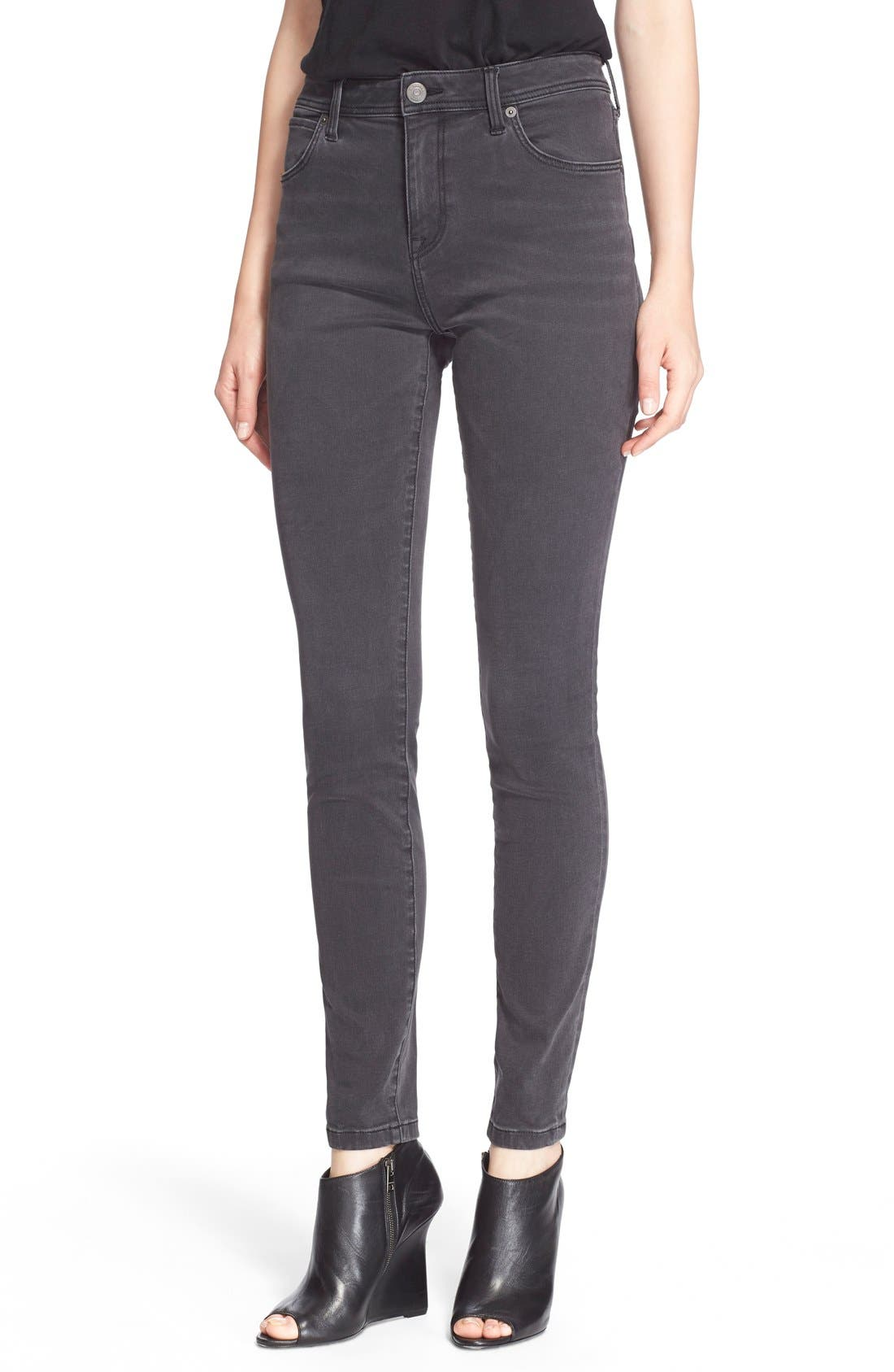Alternate Image 1 Selected - Burberry Brit Skinny Jeans (Mid Grey)