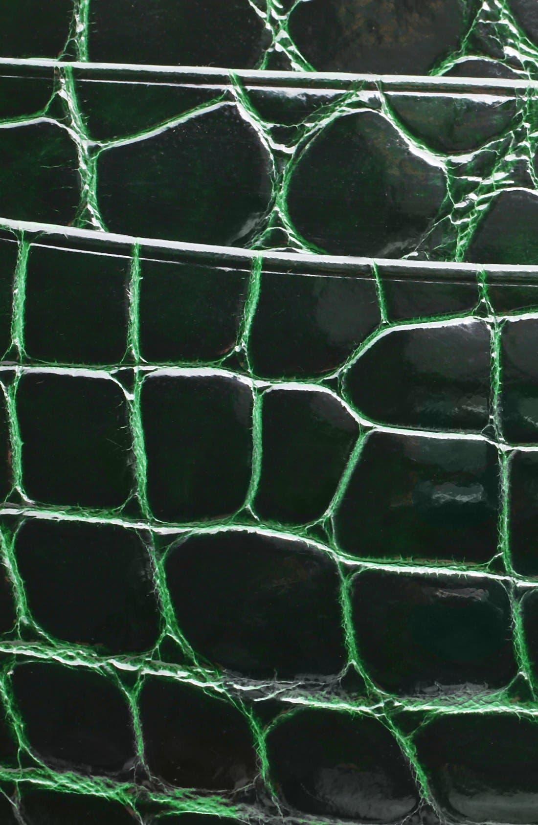 Alternate Image 3  - Trafalgar Genuine Alligator Leather Card Case