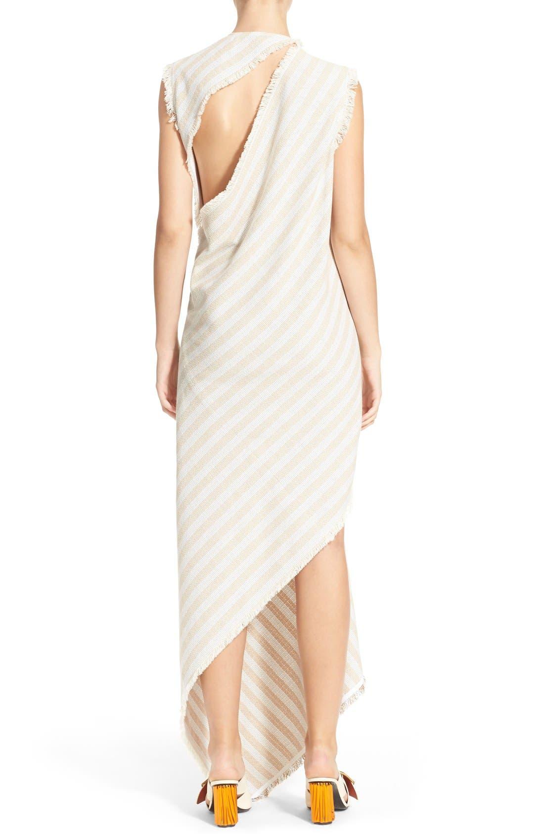'Cosby' Stripe Sleeveless Dress,                             Alternate thumbnail 2, color,                             Natural Stripe