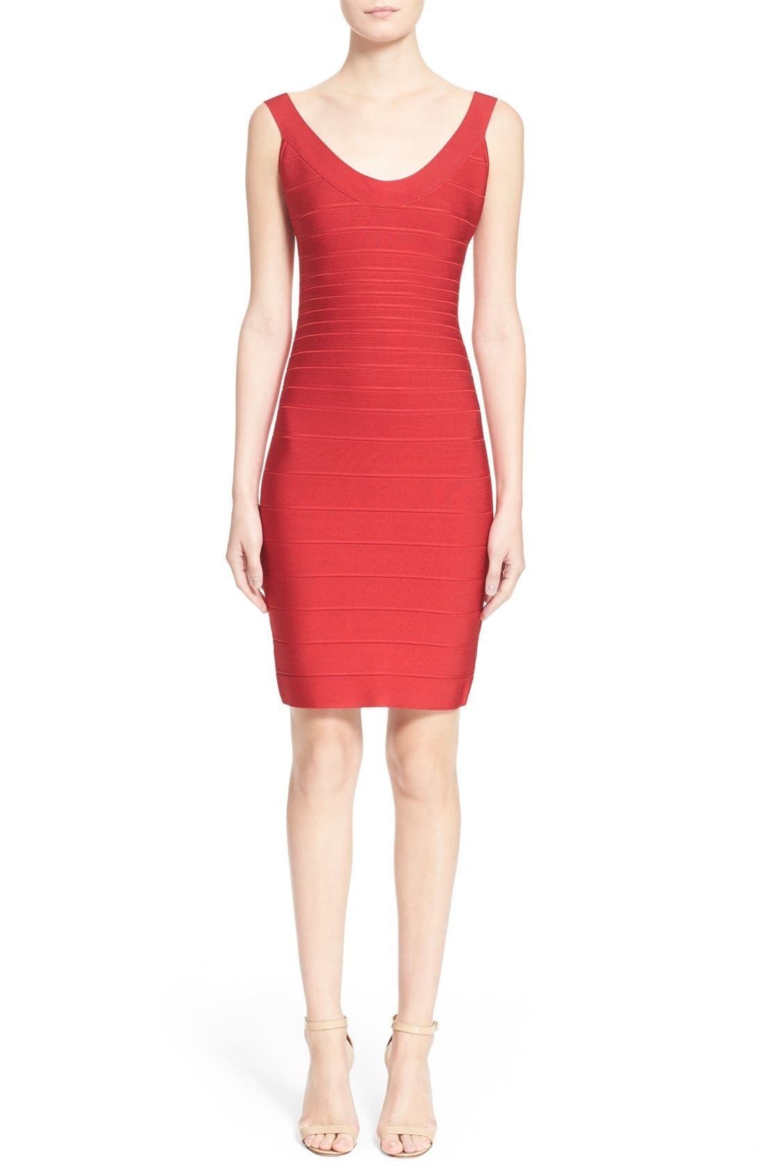 Alternate Image 1 Selected - Herve Leger 'Sydney' U-Neck Bandage Dress
