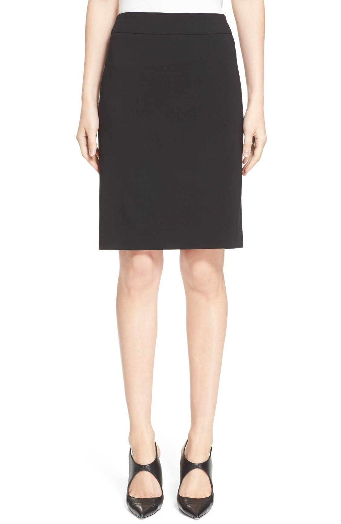 Main Image - Armani Collezioni Featherweight Wool Pencil Skirt