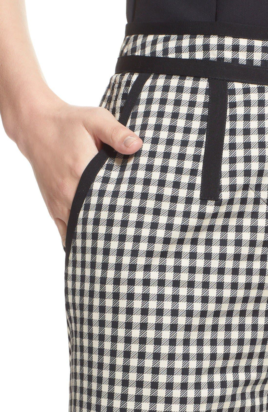 Alternate Image 6  - Isa Arfen Check Print Crop Pants