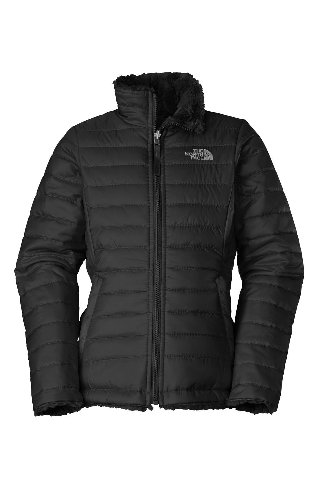 The North Face 'Mossbud Swirl' Reversible Water Repellent Jacket (Little Girls & Big Girls) (Regular Retail Price: $110.00)