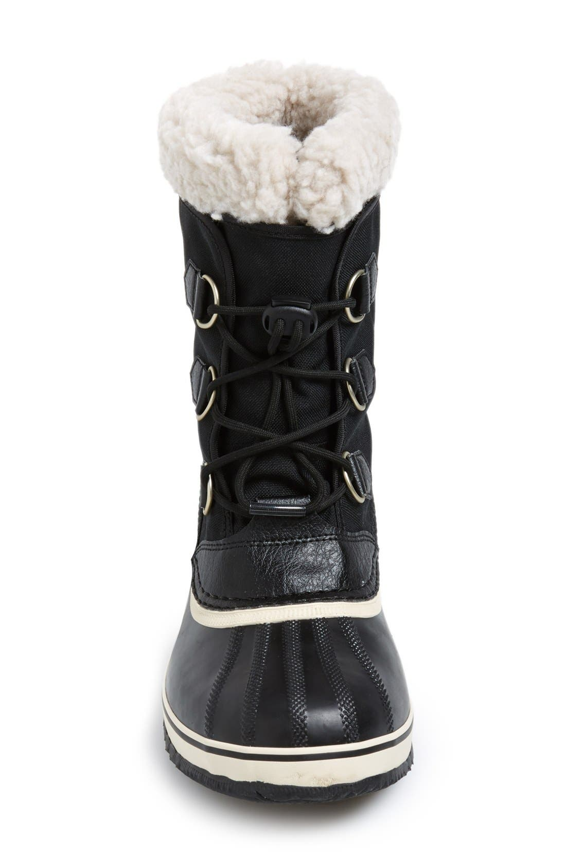 'Yoot Pac' Waterproof Snow Boot,                             Alternate thumbnail 3, color,                             Black