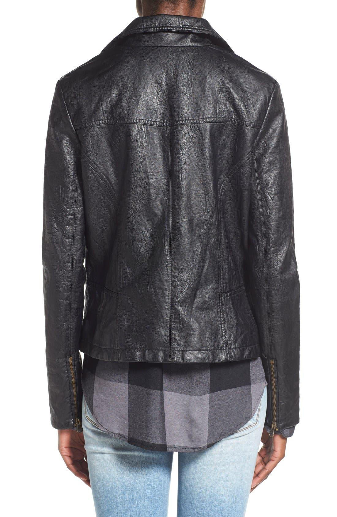 Alternate Image 3  - Sun & Shadow Faux Leather Moto Jacket