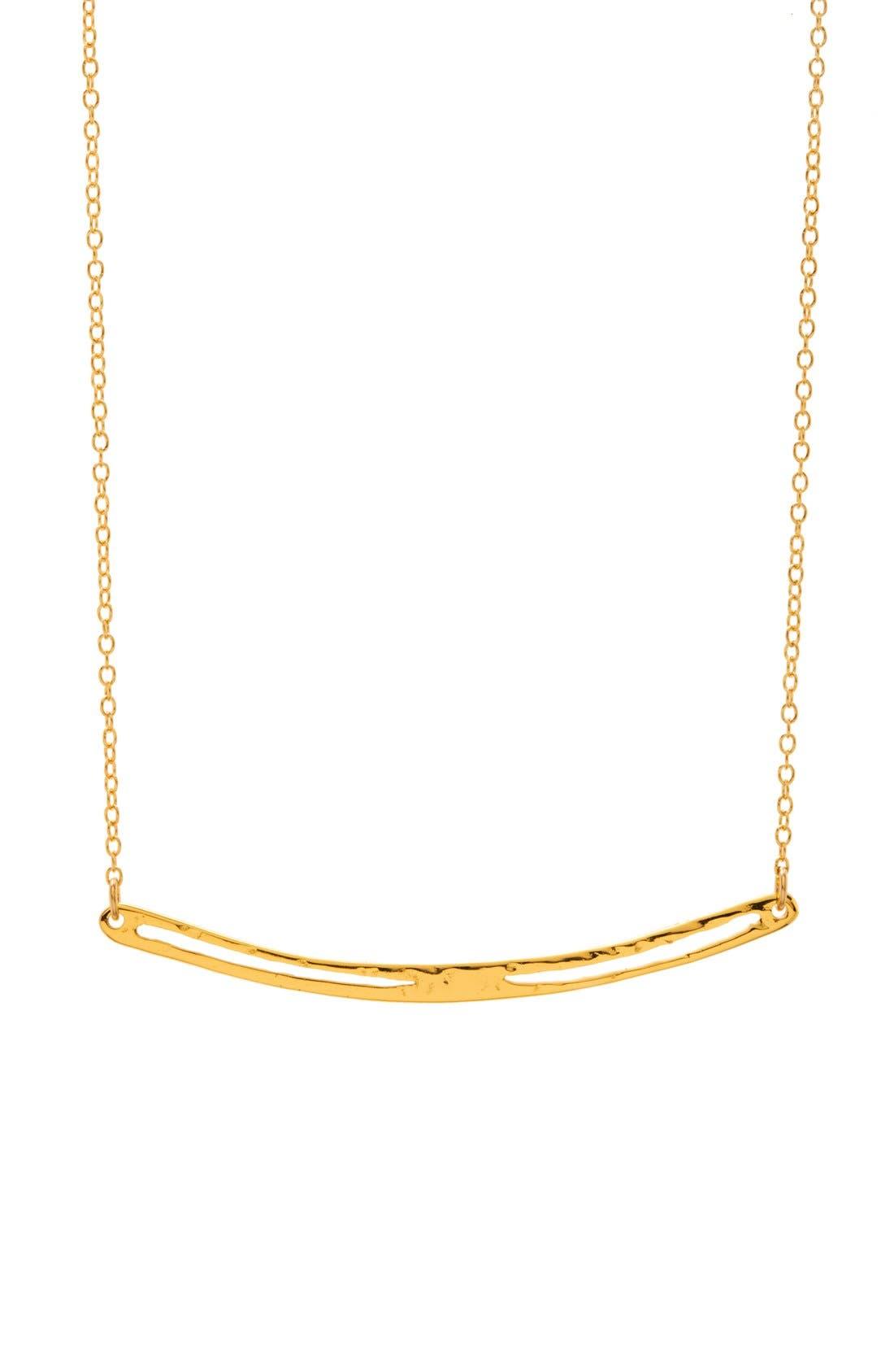 Main Image - gorjana 'Taner' Split Bar Pendant Necklace