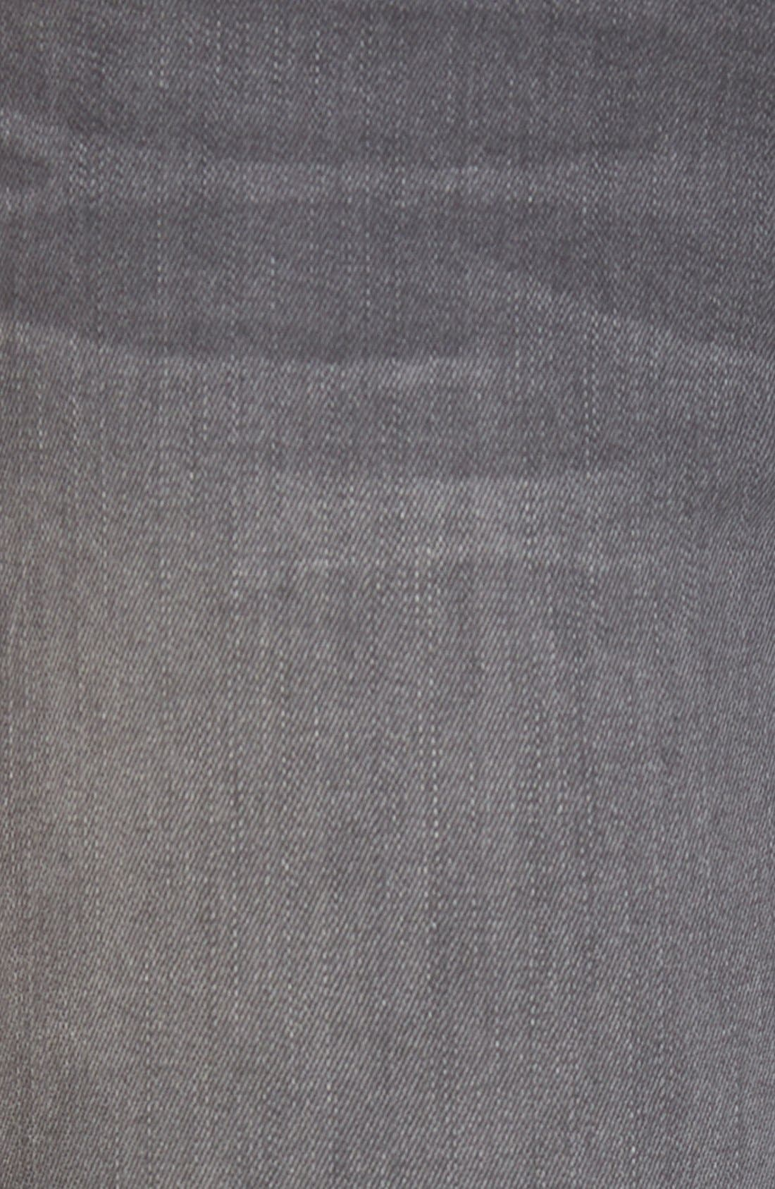 Alternate Image 5  - 3x1 NYCHigh Rise Destroyed Skinny Jeans (Golf Grey Decon)