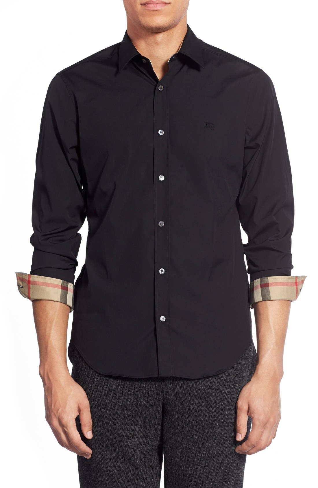 All Black Burberry Shirt