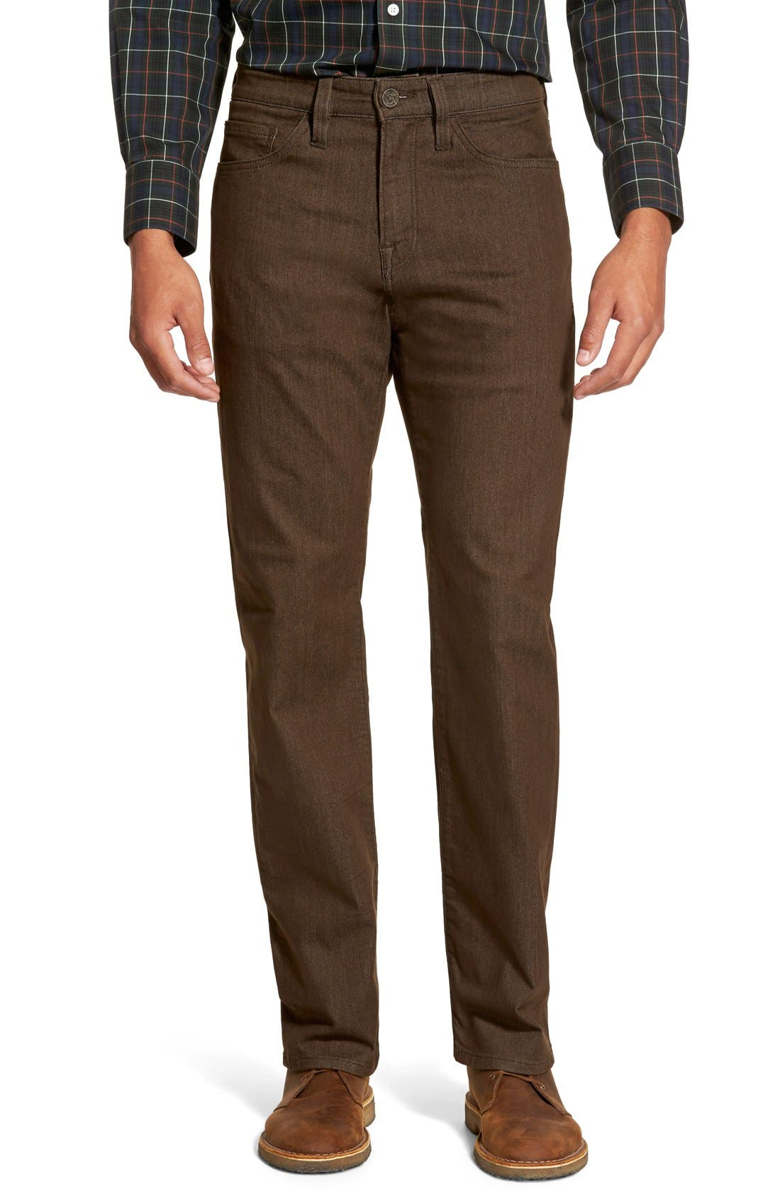 'Charisma' Relaxed Fit Jeans,                             Main thumbnail 1, color,                             Brown Comfort