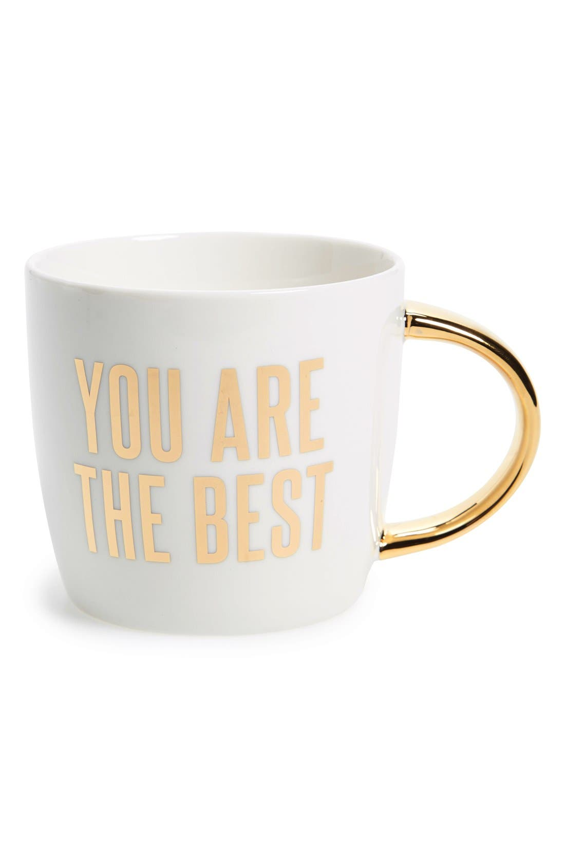 'You Are the Best' Ceramic Mug,                             Main thumbnail 1, color,                             White