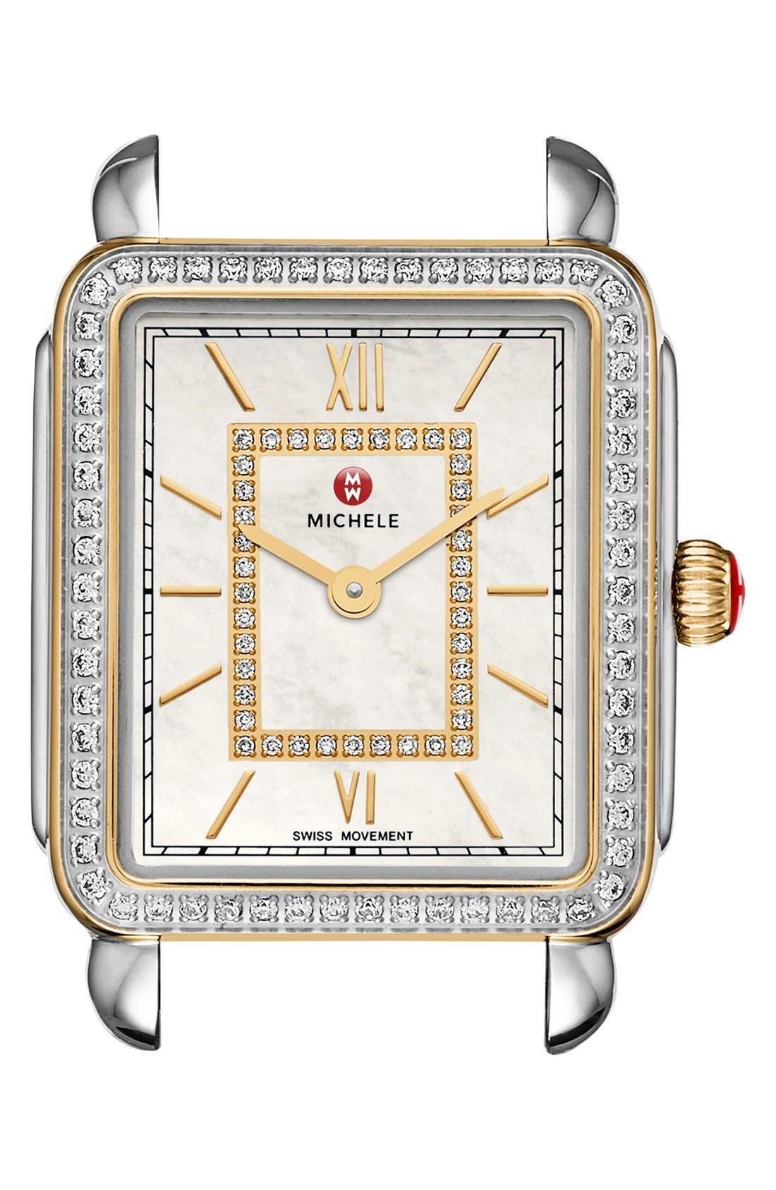 MICHELE Deco II Mid Diamond Dial Watch Case, 26mm x 28mm