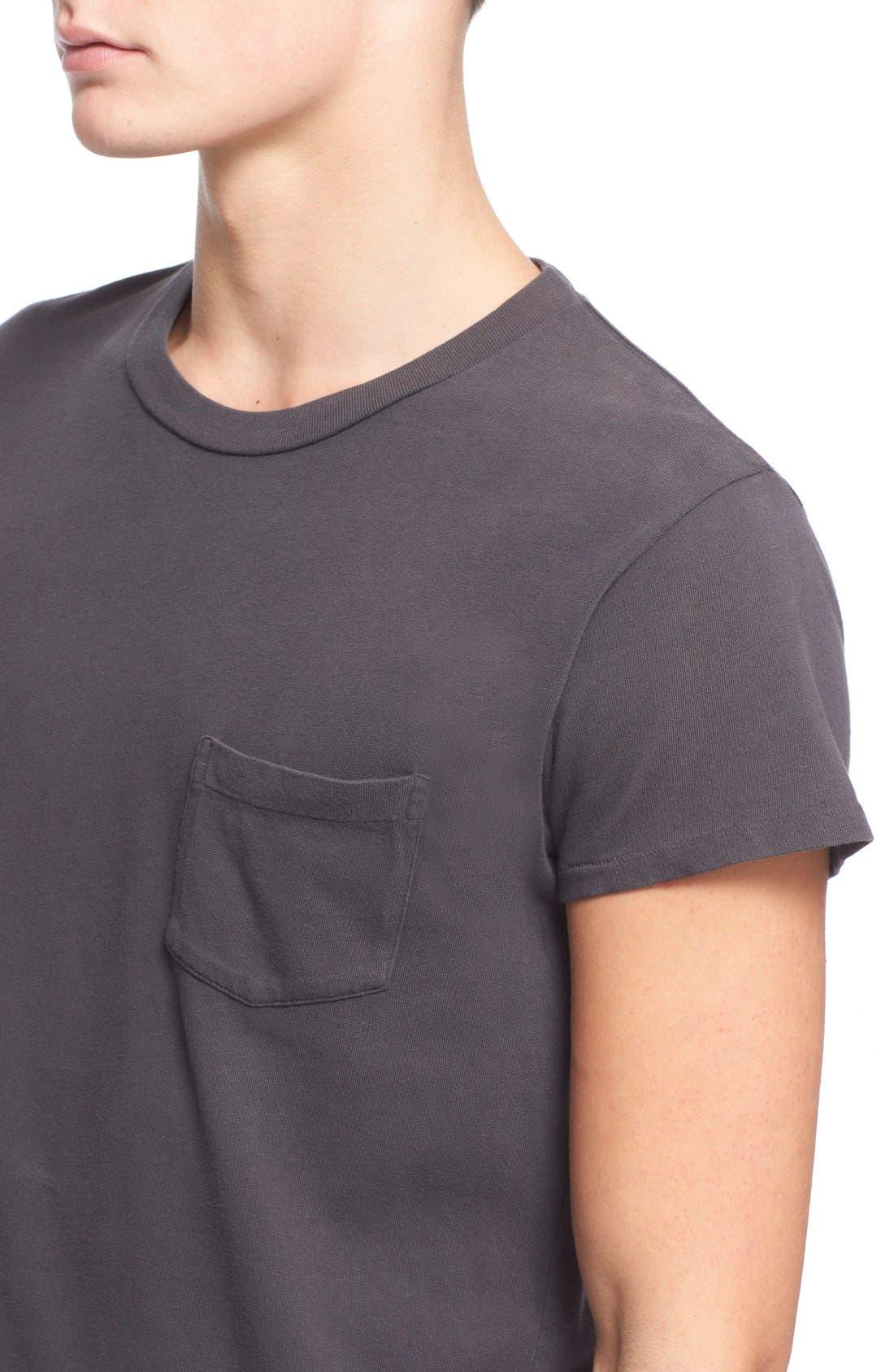 Levi's Vintage Clothing '1950s' Pocket T-Shirt,                             Alternate thumbnail 4, color,                             Black