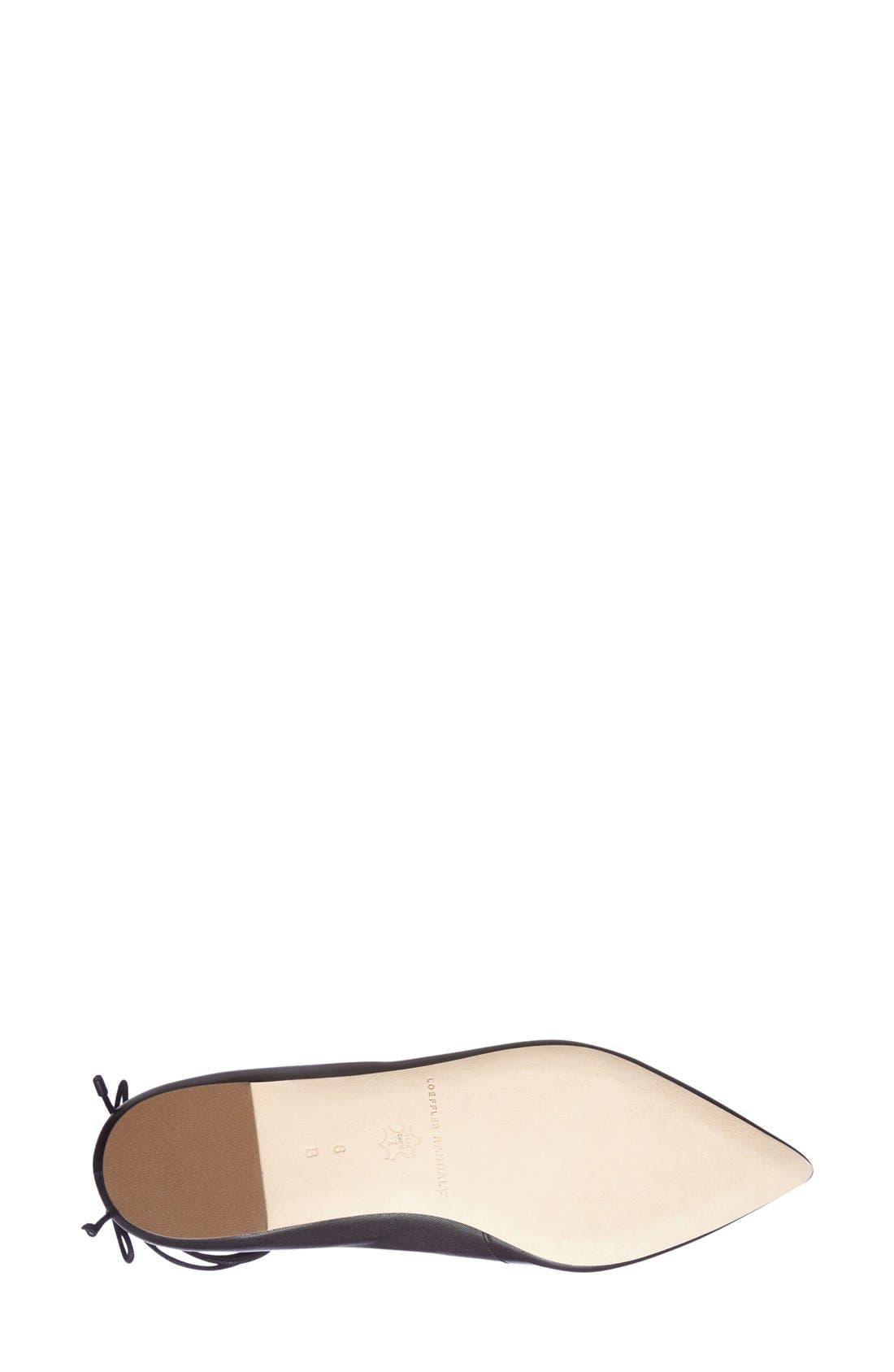 Alternate Image 4  - Loeffler Randall 'Ambra' Pointy Toe Ghillie Flat (Women)