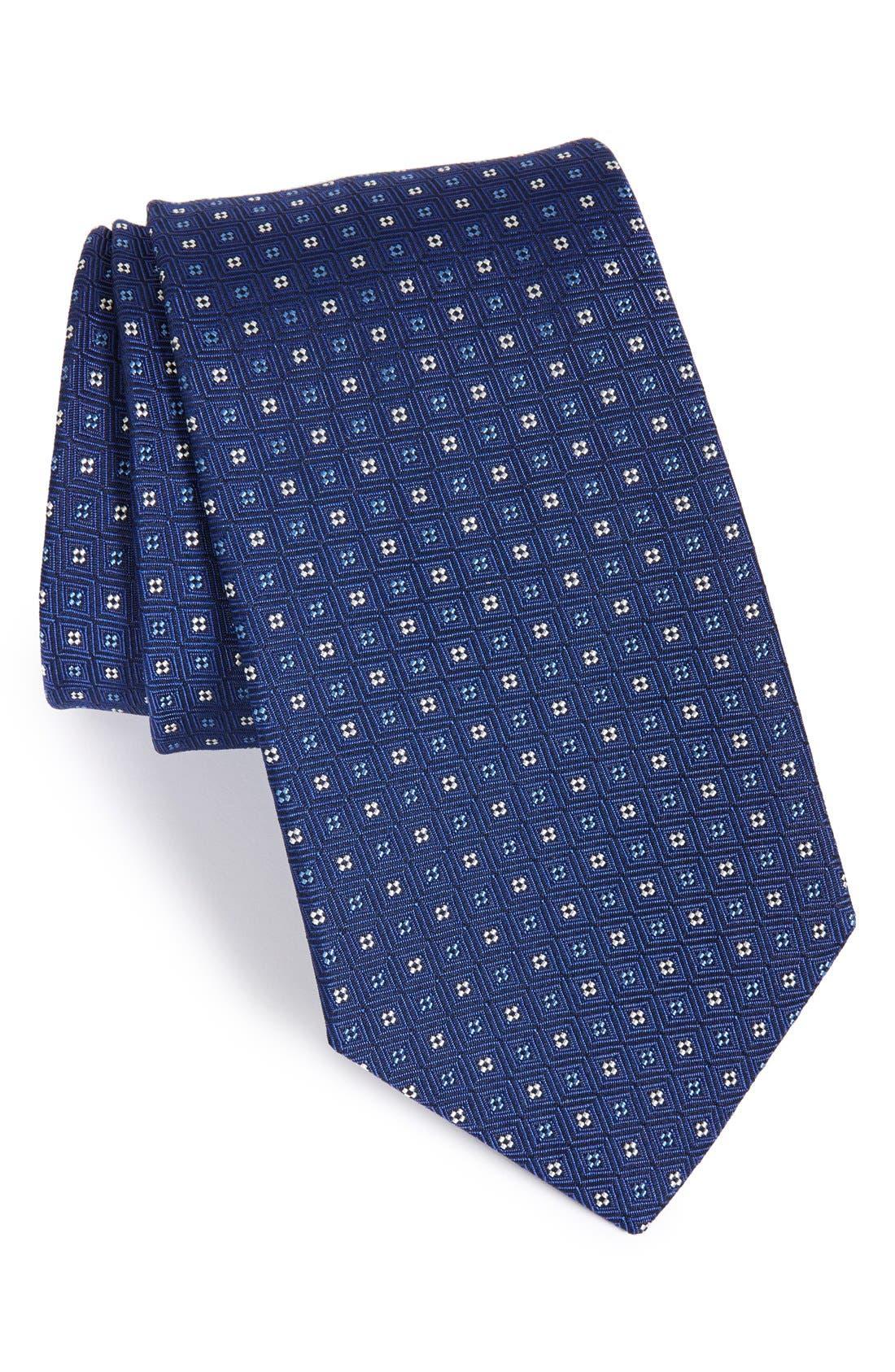 Gitman Geometric Silk Tie (X-Long)