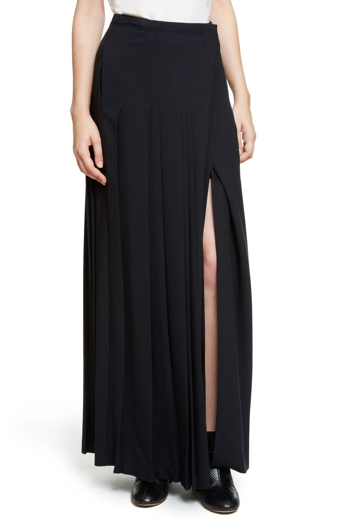 Alternate Image 6  - Chloé Pleated Cady Maxi Skirt