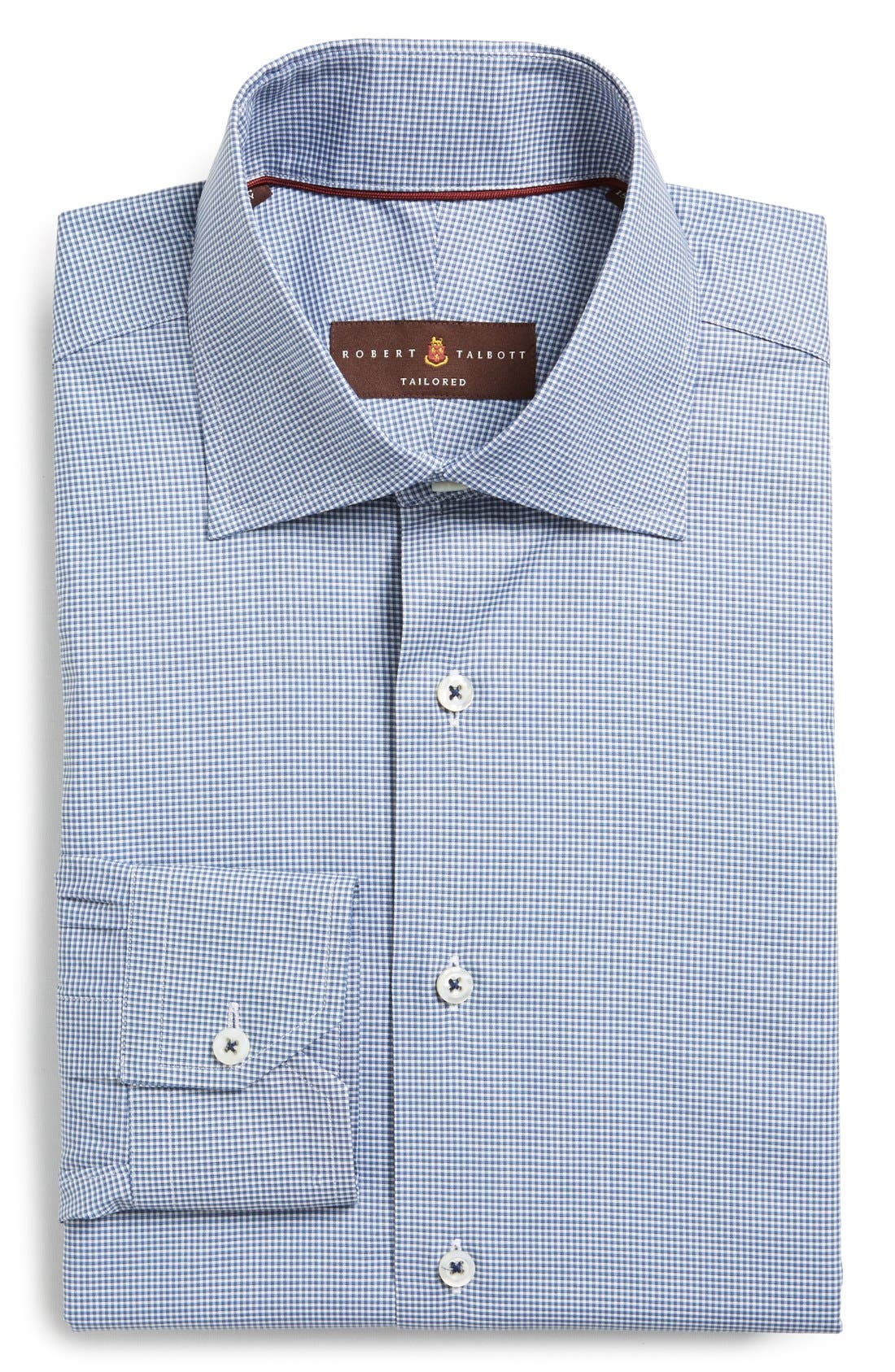 Main Image - Robert Talbott Tailored Fit Check Dress Shirt