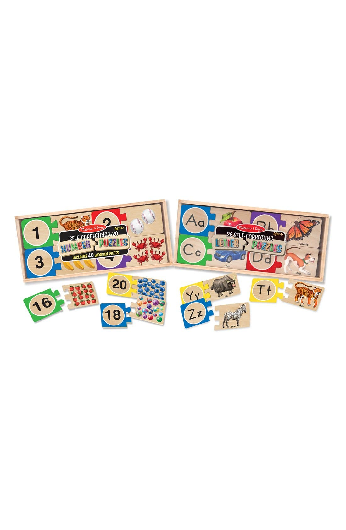 Letters and Numbers Puzzles,                         Main,                         color, Brown