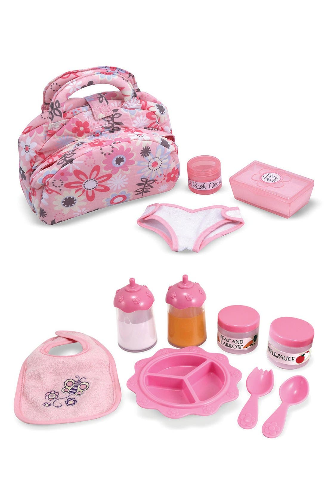 Baby Doll Accessories Set,                             Main thumbnail 1, color,                             Pink