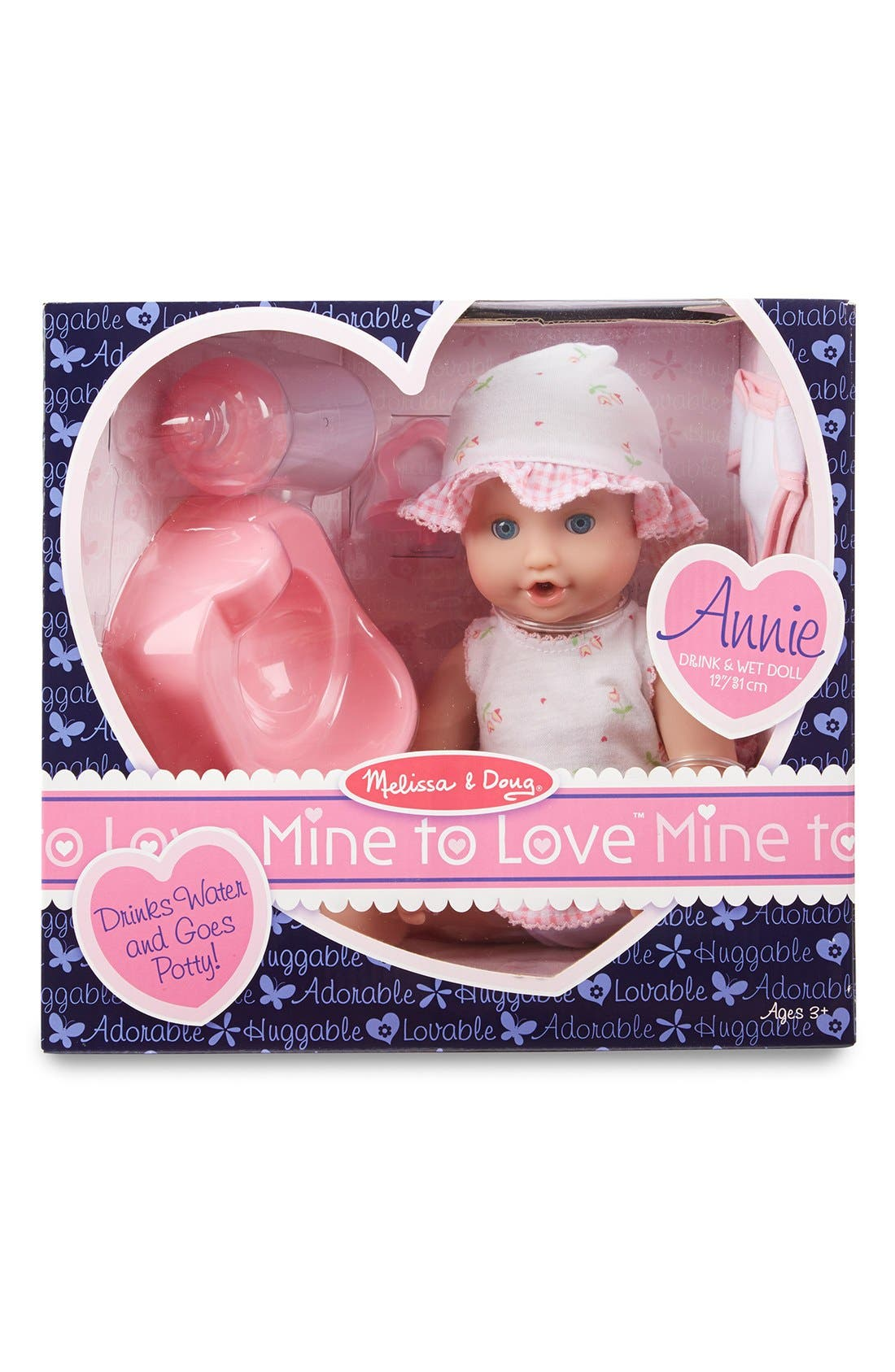 'Mine to Love - Annie' Doll,                             Alternate thumbnail 2, color,                             Pink
