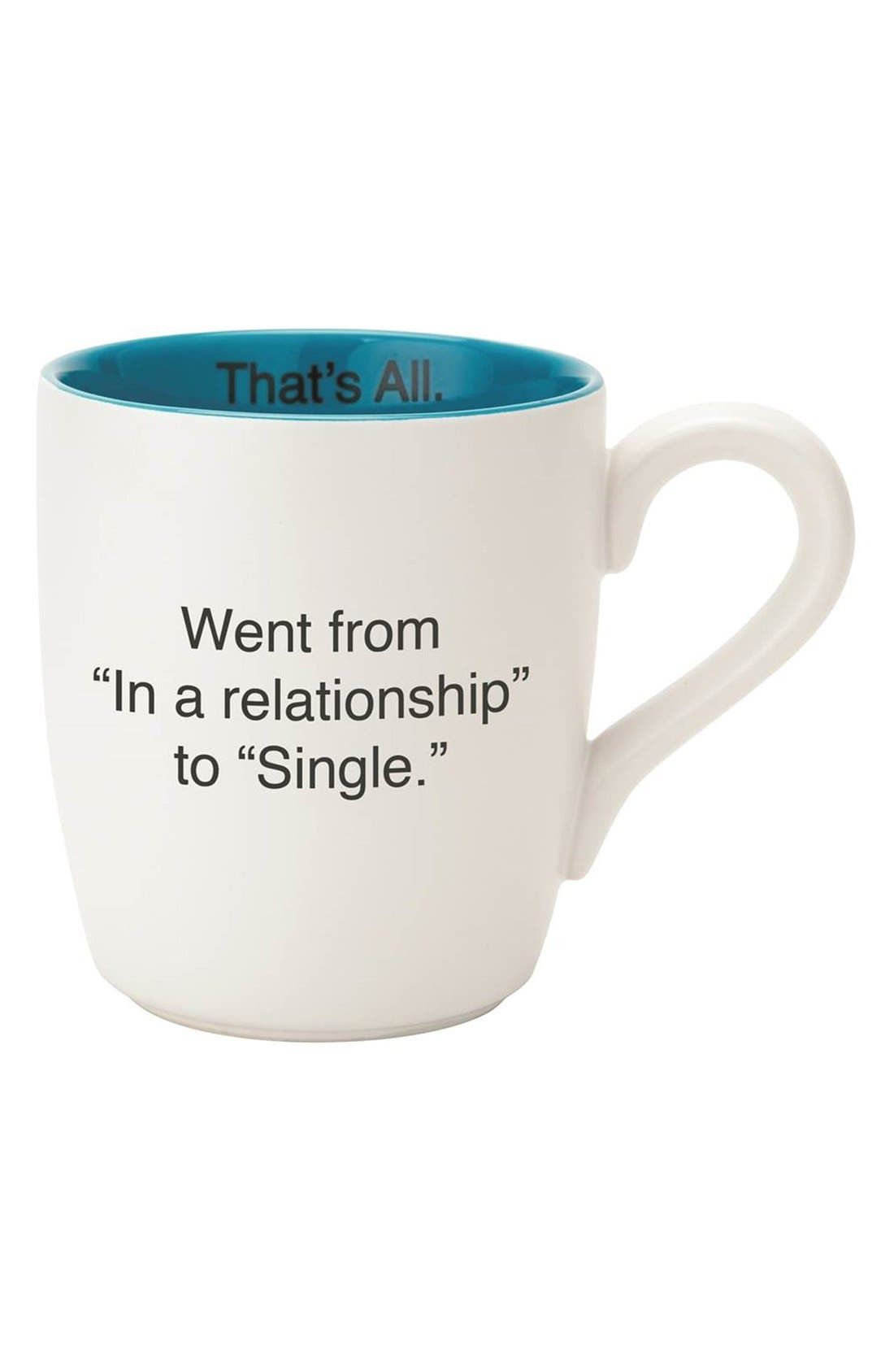 Alternate Image 1 Selected - CB Gift 'Single - That's All' Coffee Mug