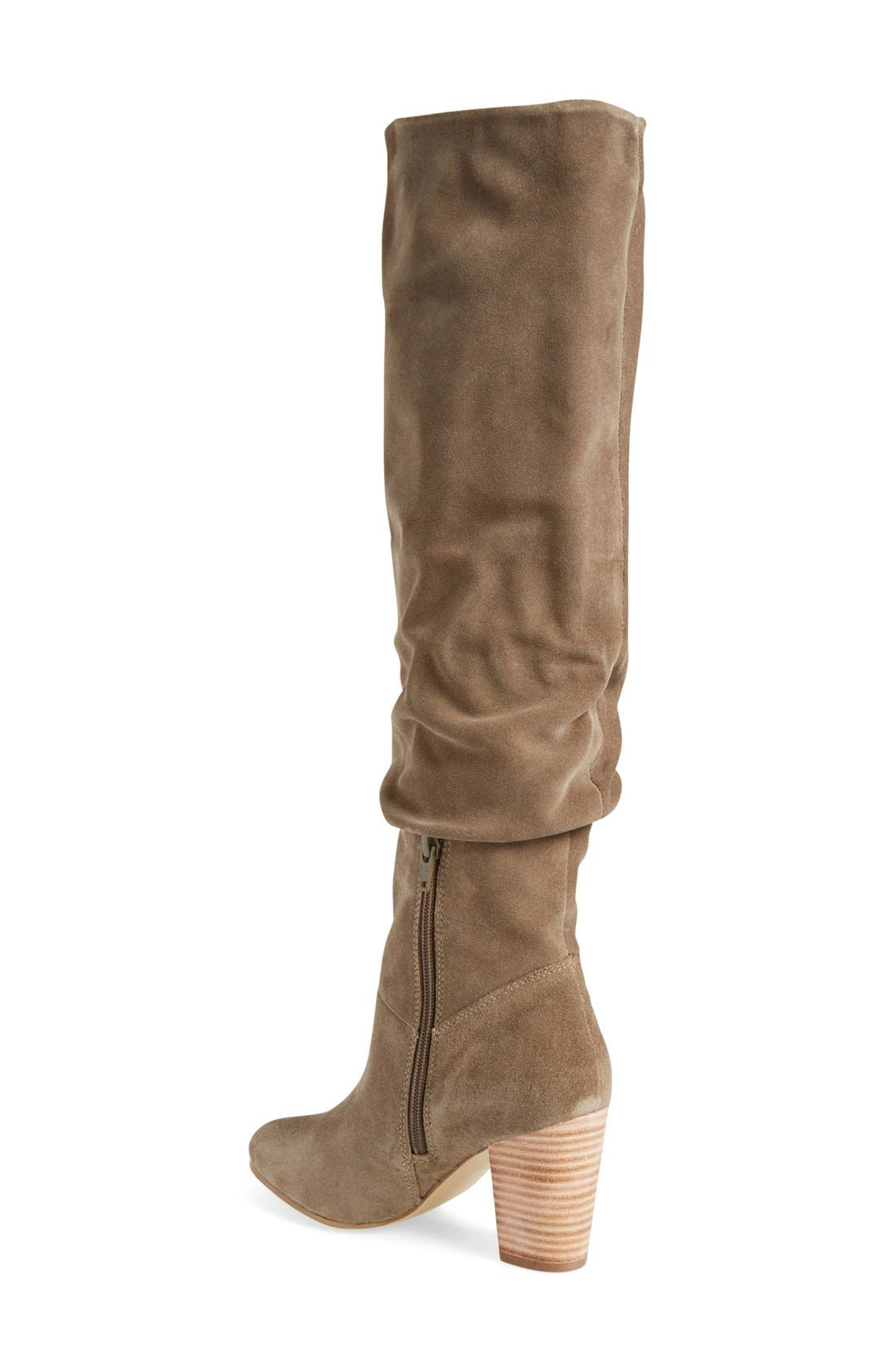 'Larimar' Over The Knee Boot,                             Alternate thumbnail 2, color,                             Taupe Suede