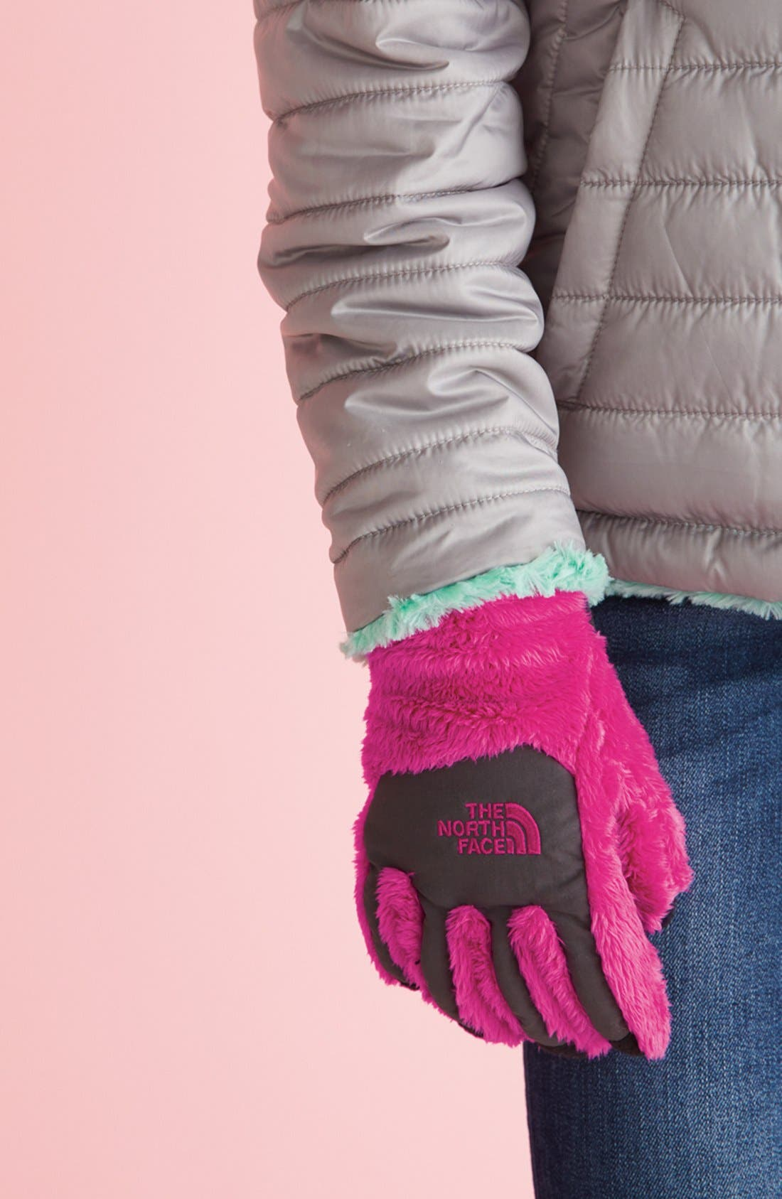Alternate Image 2  - The North Face 'Denali E-Tip' Thermal Gloves (Girls)