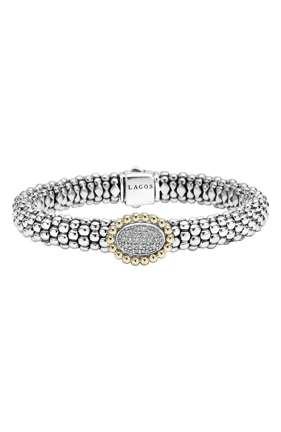 Alternate Image 1 Selected - LAGOS 'Caviar' Diamond Bracelet