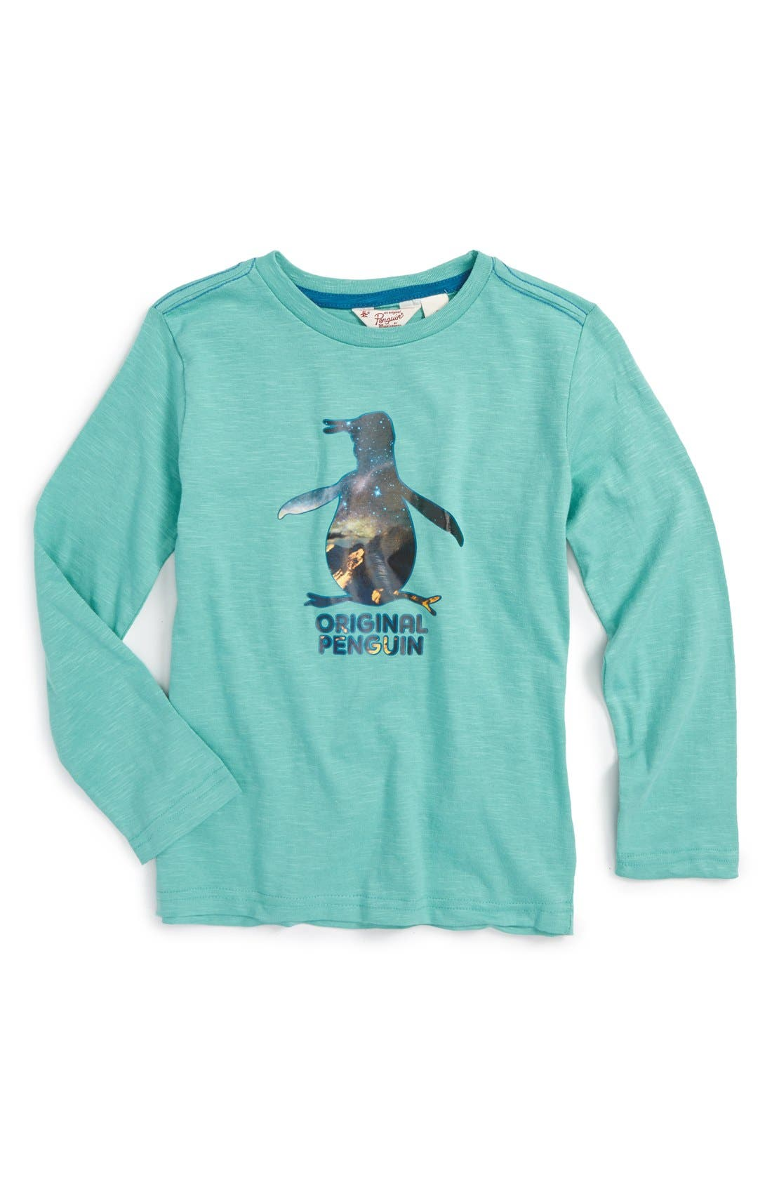 ORIGINAL PENGUIN Iced Pete Long Sleeve Slub Graphic T-Shirt