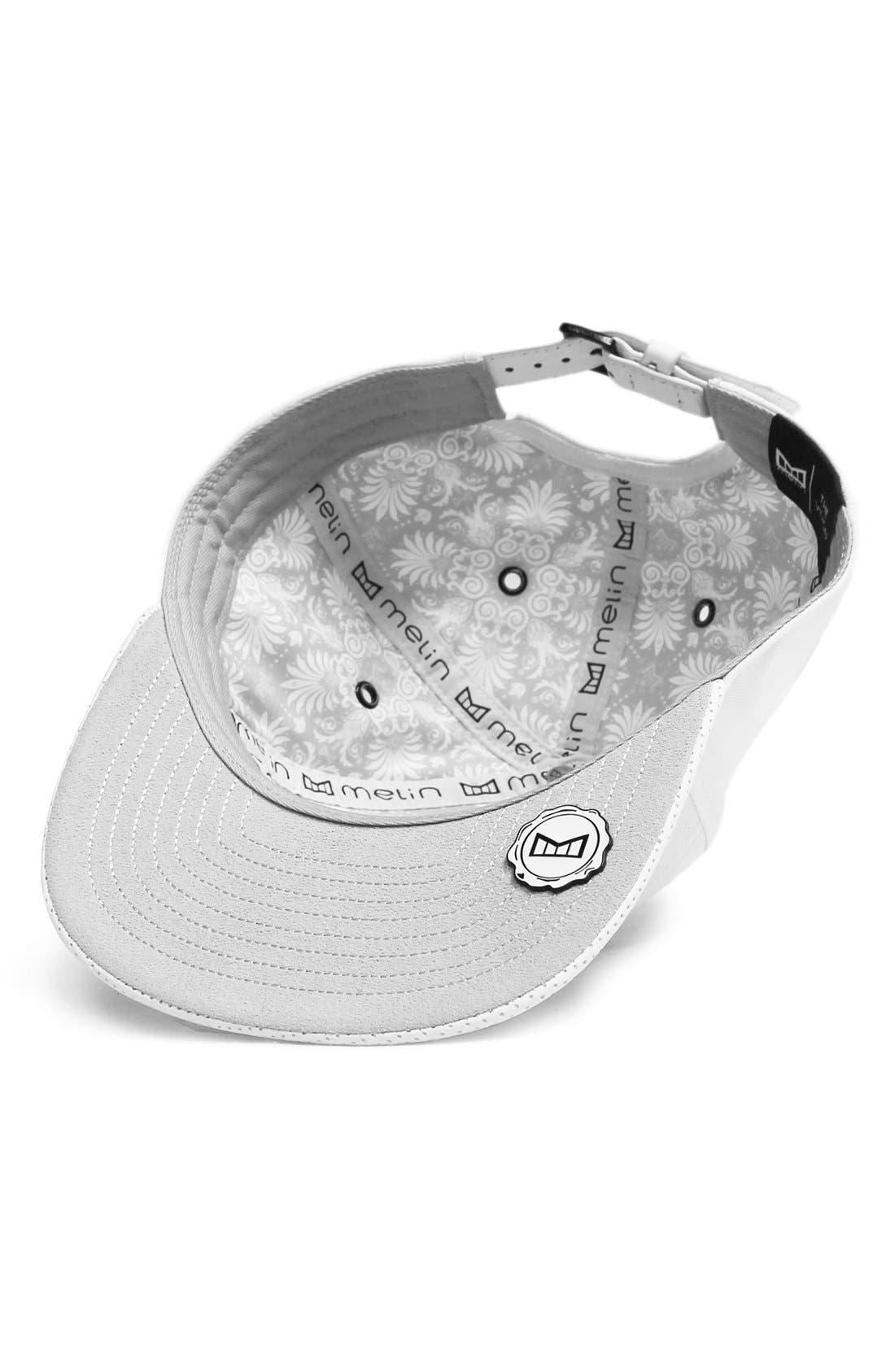 'The Vision' Horizon Fit Flat Brim Baseball Cap,                             Alternate thumbnail 4, color,                             White
