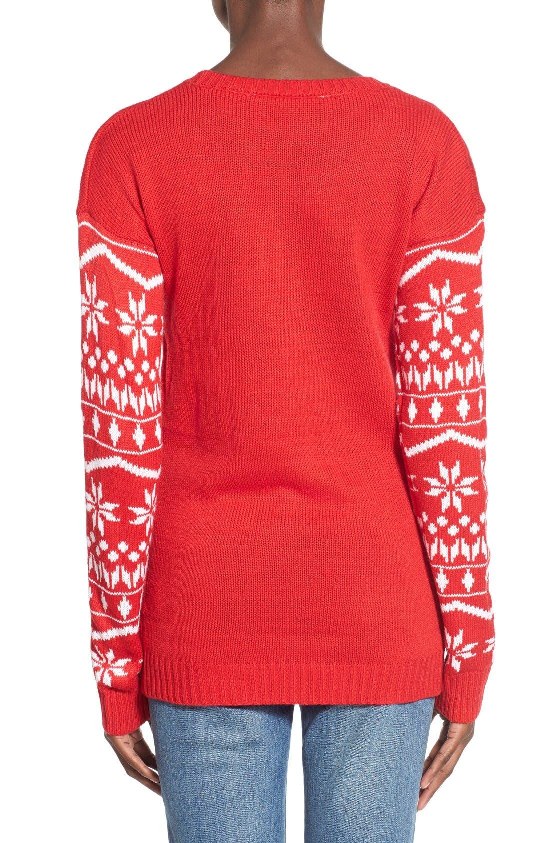 Alternate Image 2  - Derek Heart Tree Ornament Christmas Sweater