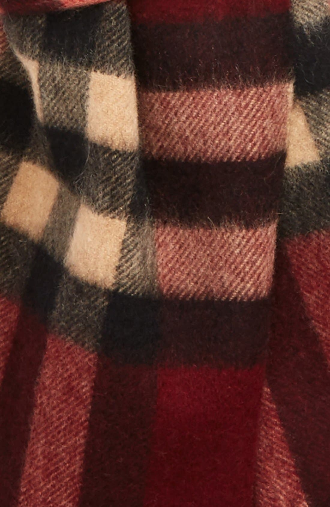 Alternate Image 3  - Burberry Heritage Check Cashmere Scarf