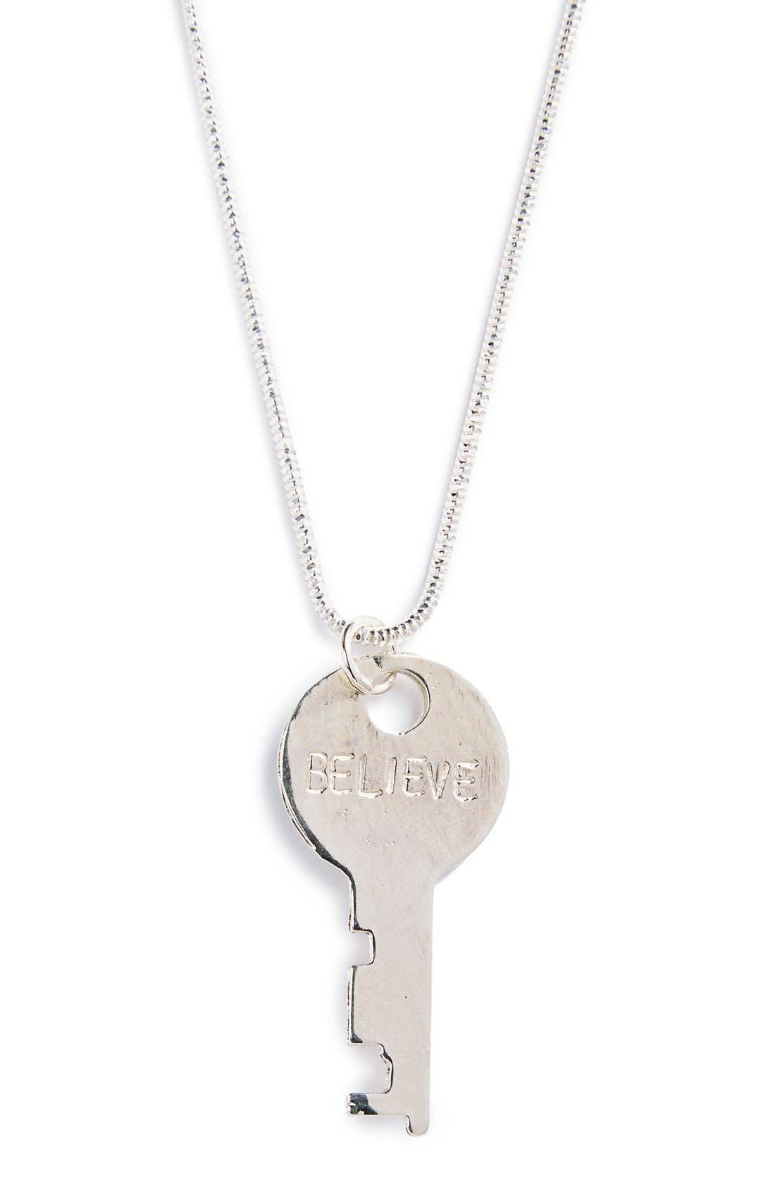 Main Image - The Giving Keys 'Precious Metal' 18-Inch Key Pendant Necklace