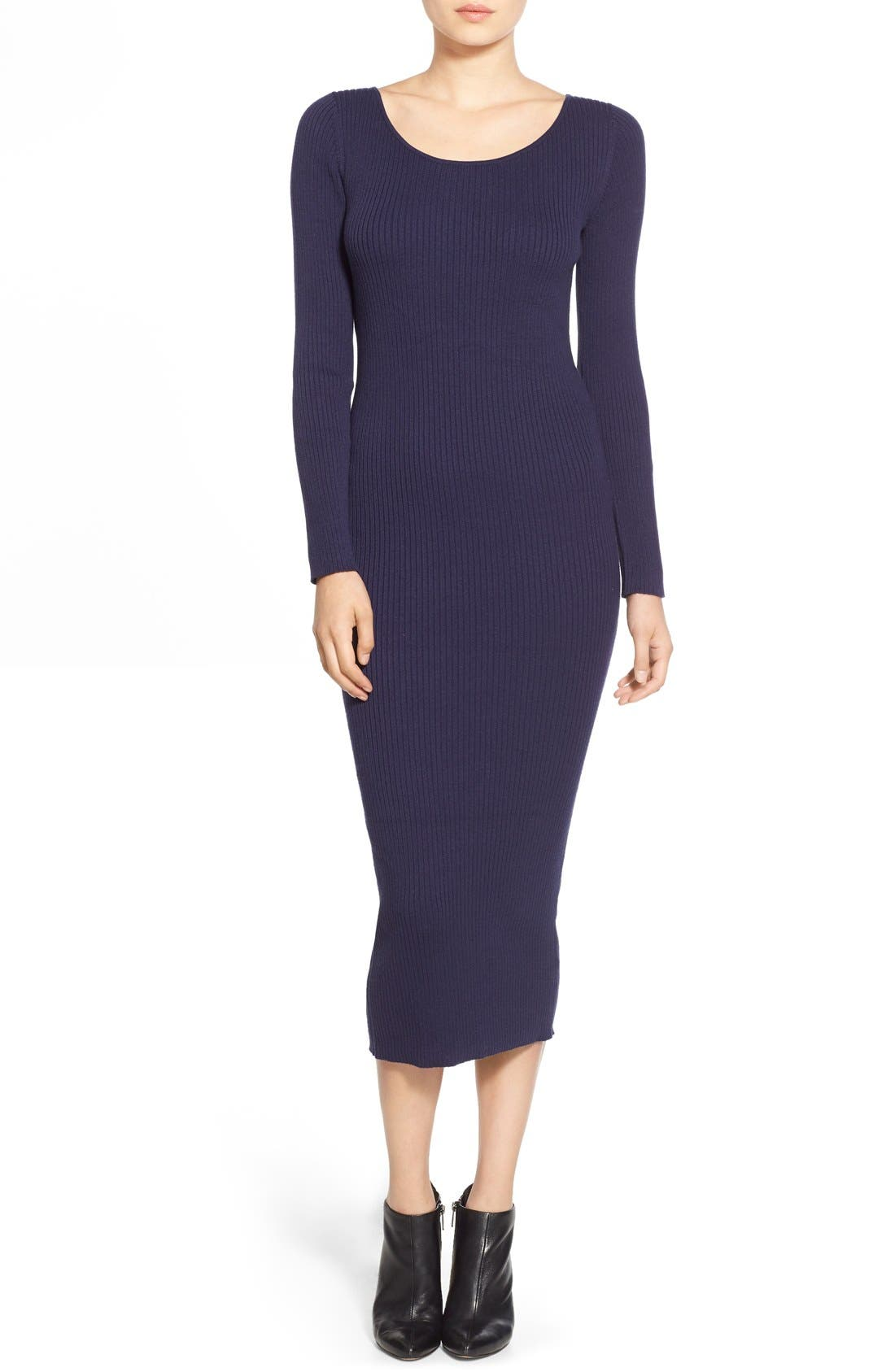 Alternate Image 1 Selected - Leith Ribbed Sweater Dress