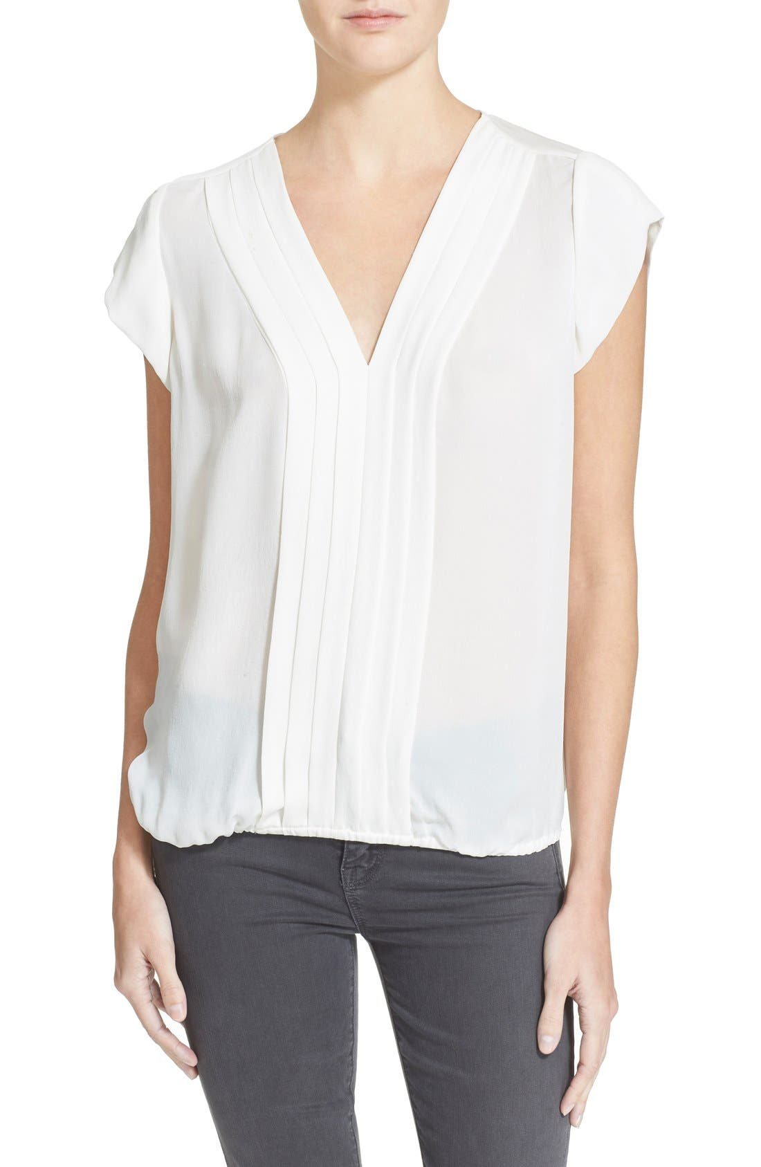 Alternate Image 1 Selected - Joie 'Marcher' Pleated Silk Top