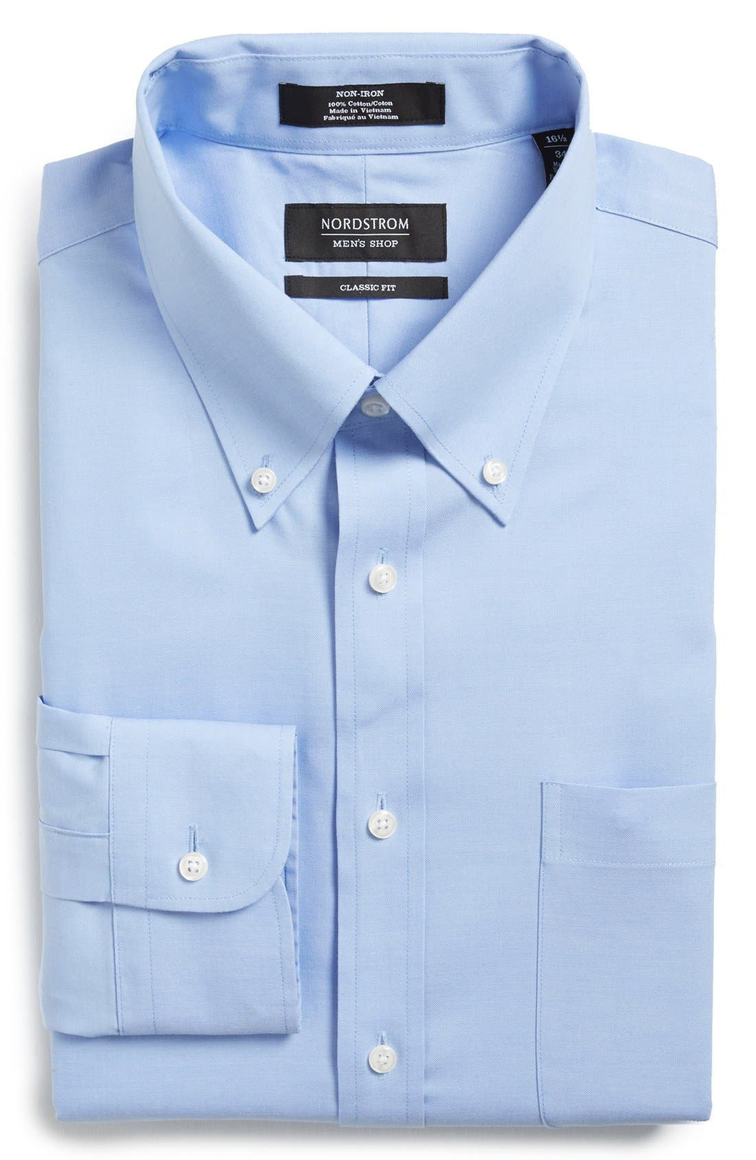 Nordstrom Men's Shop Classic Fit Non-Iron Solid Dress Shirt