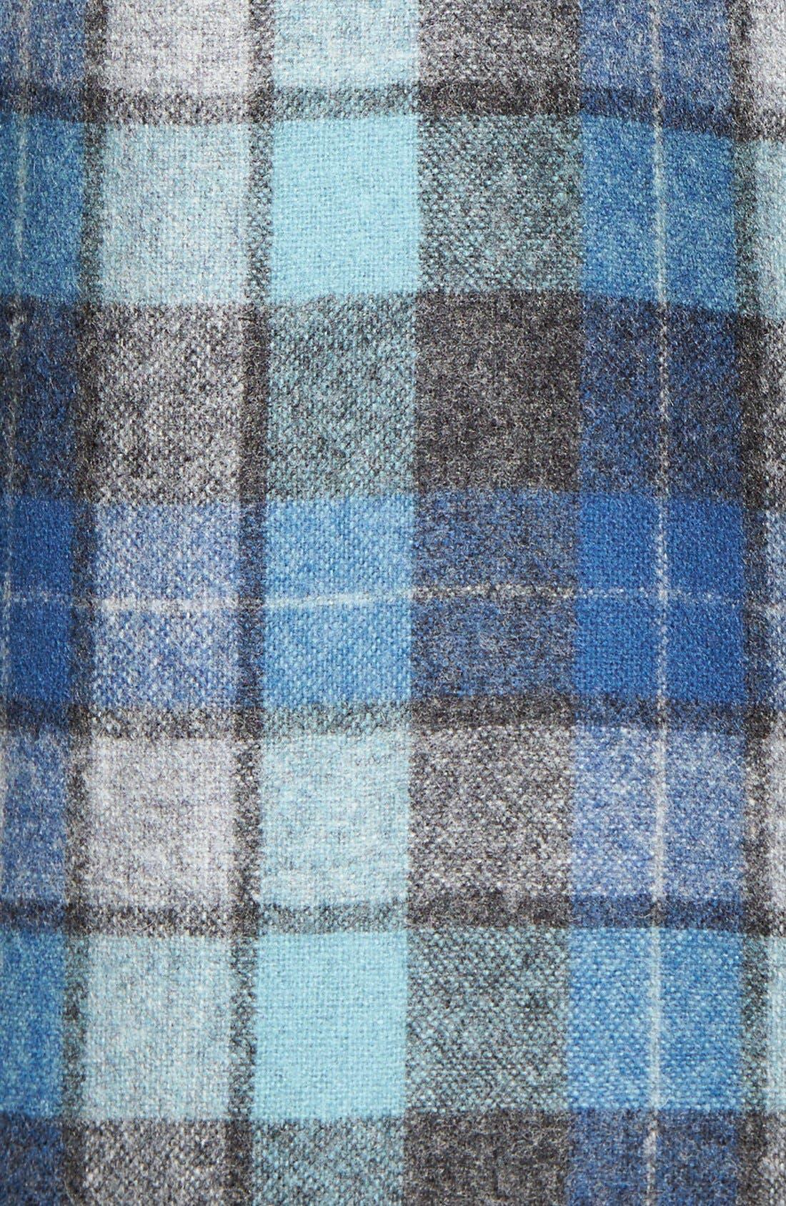 'Board' Regular Fit Flannel Shirt,                             Alternate thumbnail 5, color,                             Blue Original Surf Plaid